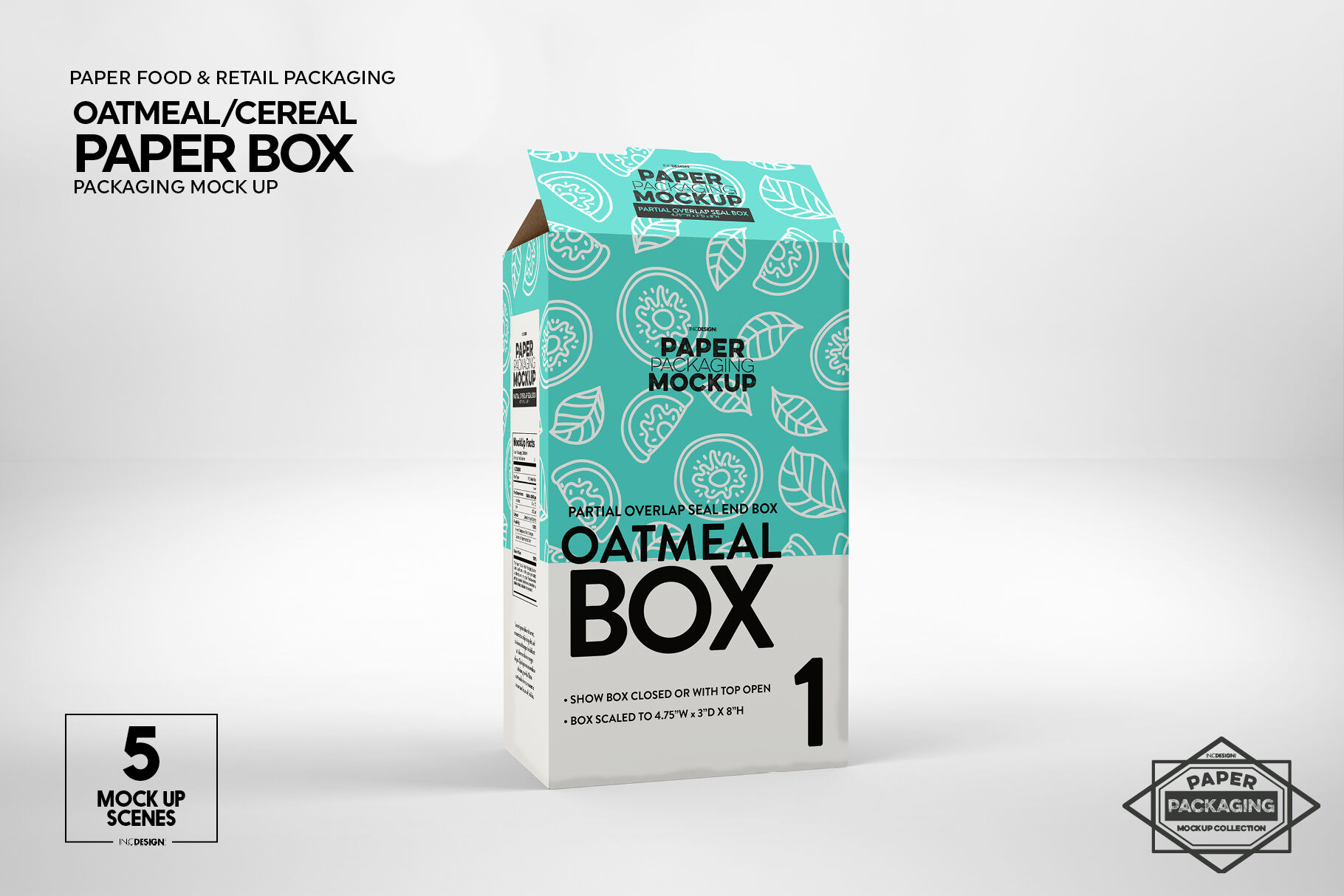 Download Textured Paper Box Label Mockup Top View Yellowimages