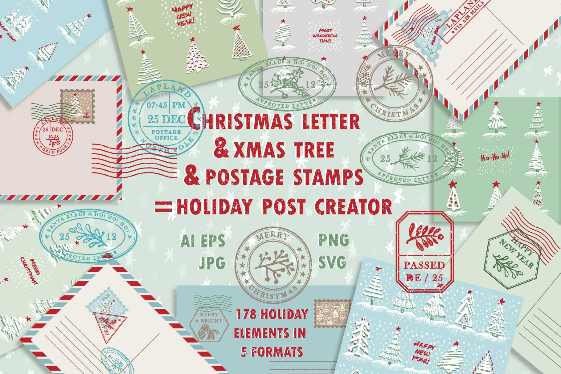 Christmas Post Creator By Zimages Thehungryjpeg Com
