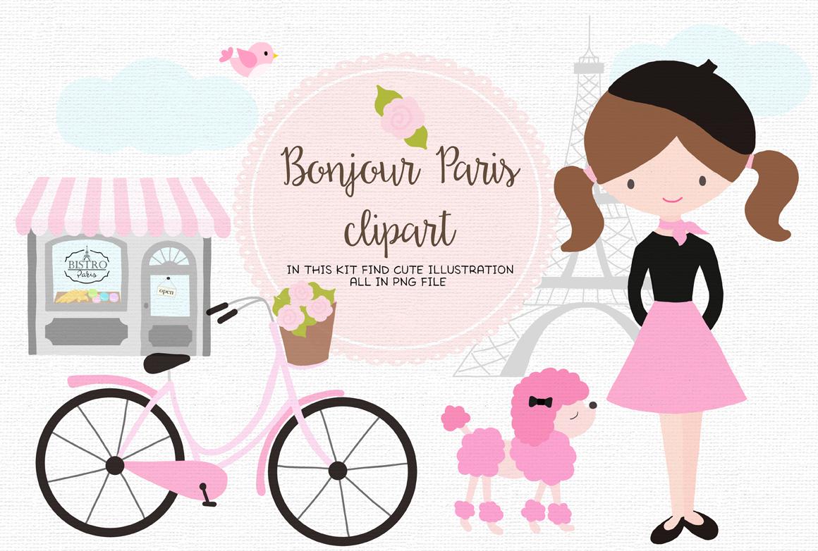 Bonjour Paris By The Paper Owl Thehungryjpeg Com