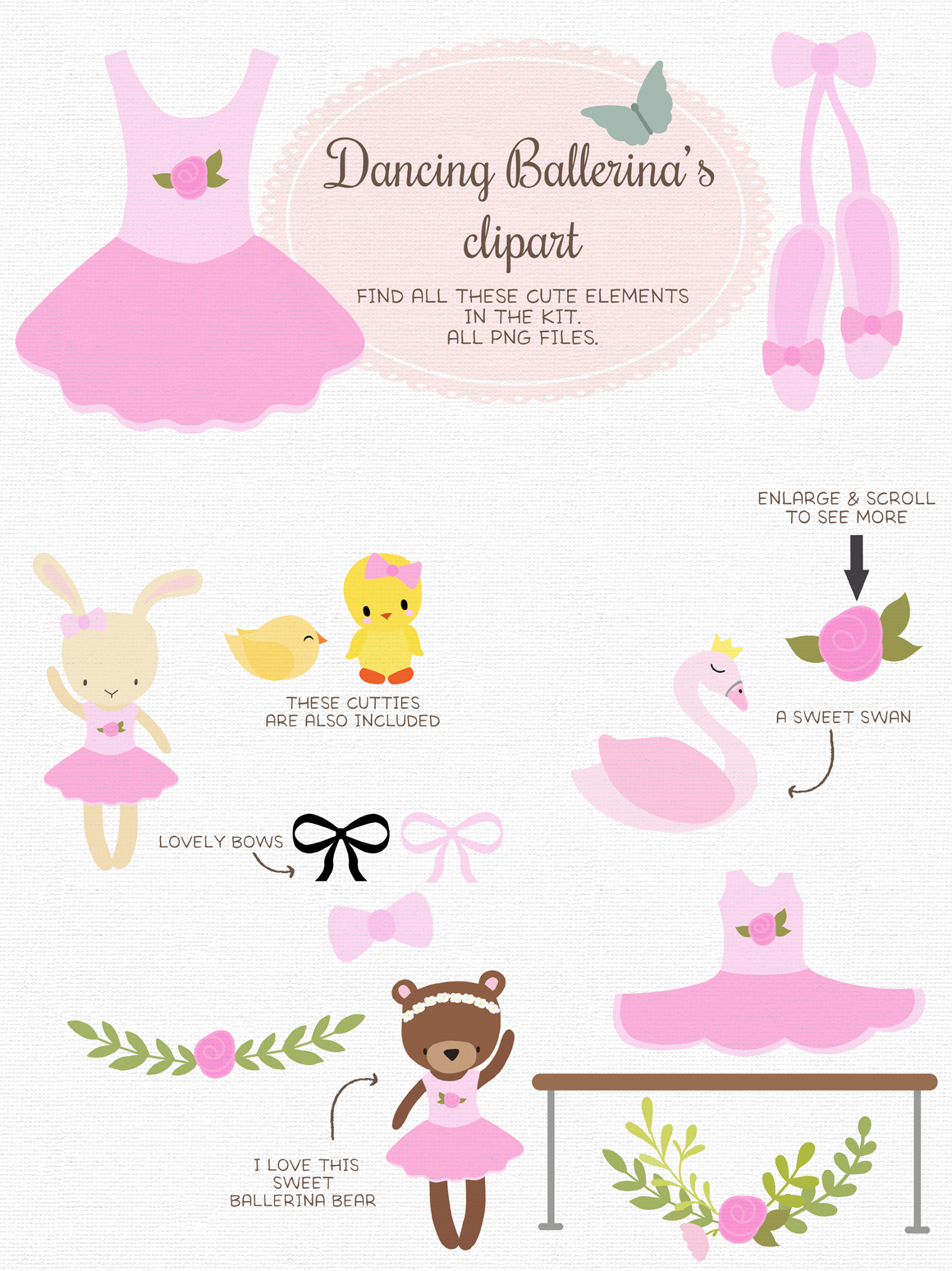 Dancing Ballerina By The Paper Owl Thehungryjpeg Com
