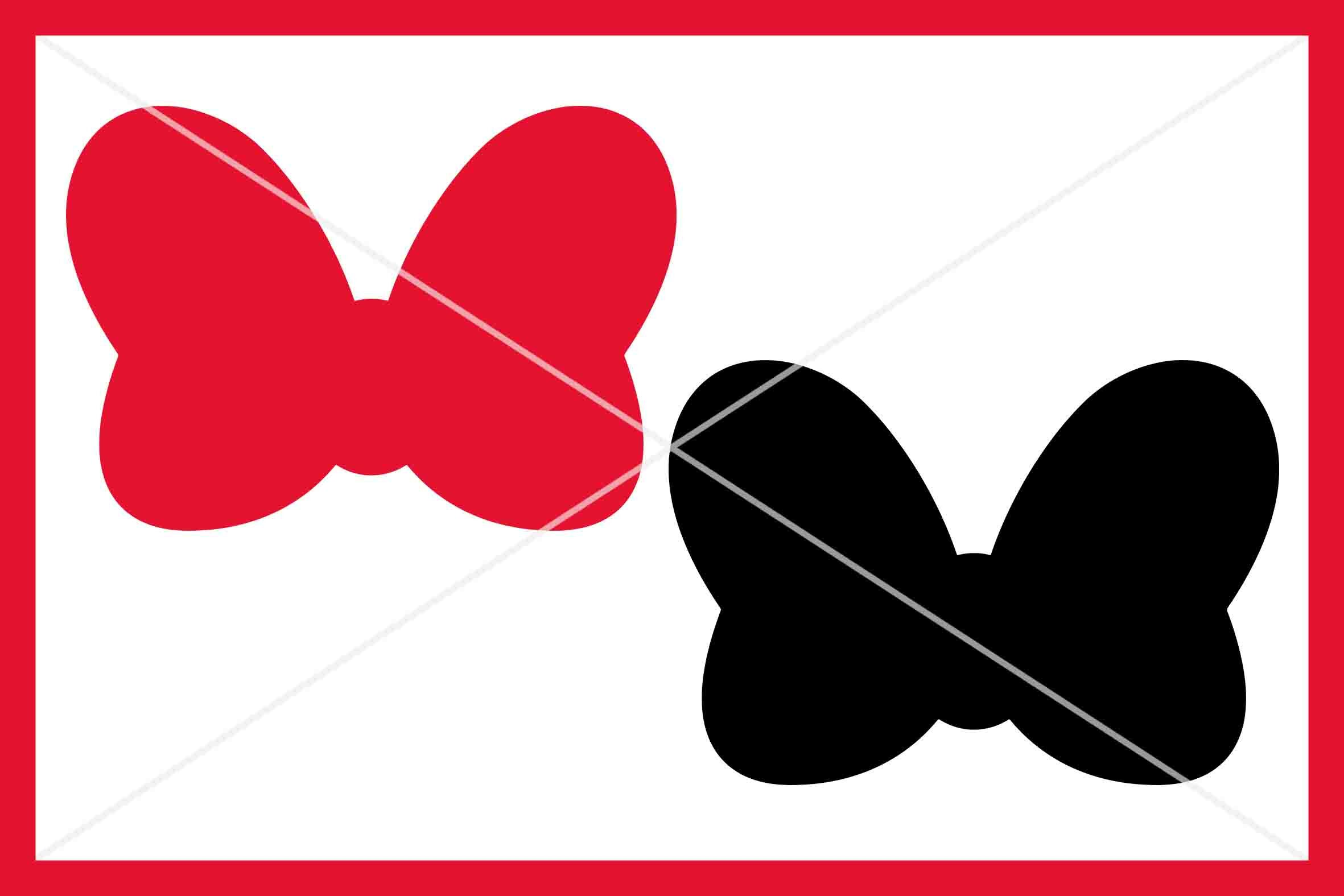 Bow Svg Silhouette Bow Red Bow Svg Instant Download Cut File