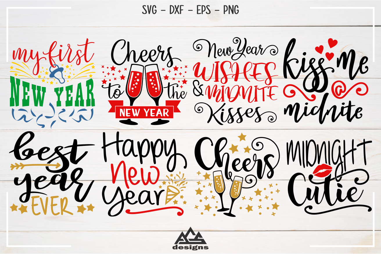 New Year Quotes Svg Design By Agsdesign Thehungryjpeg Com