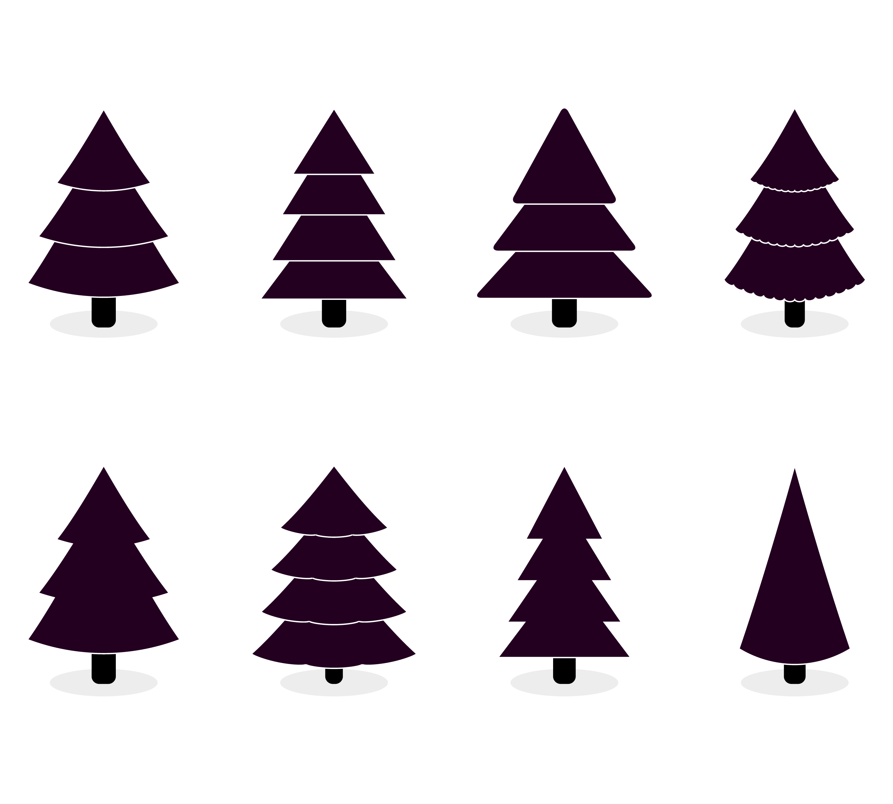 Xmas Tree Black White Color To Holiday Design By 09910190
