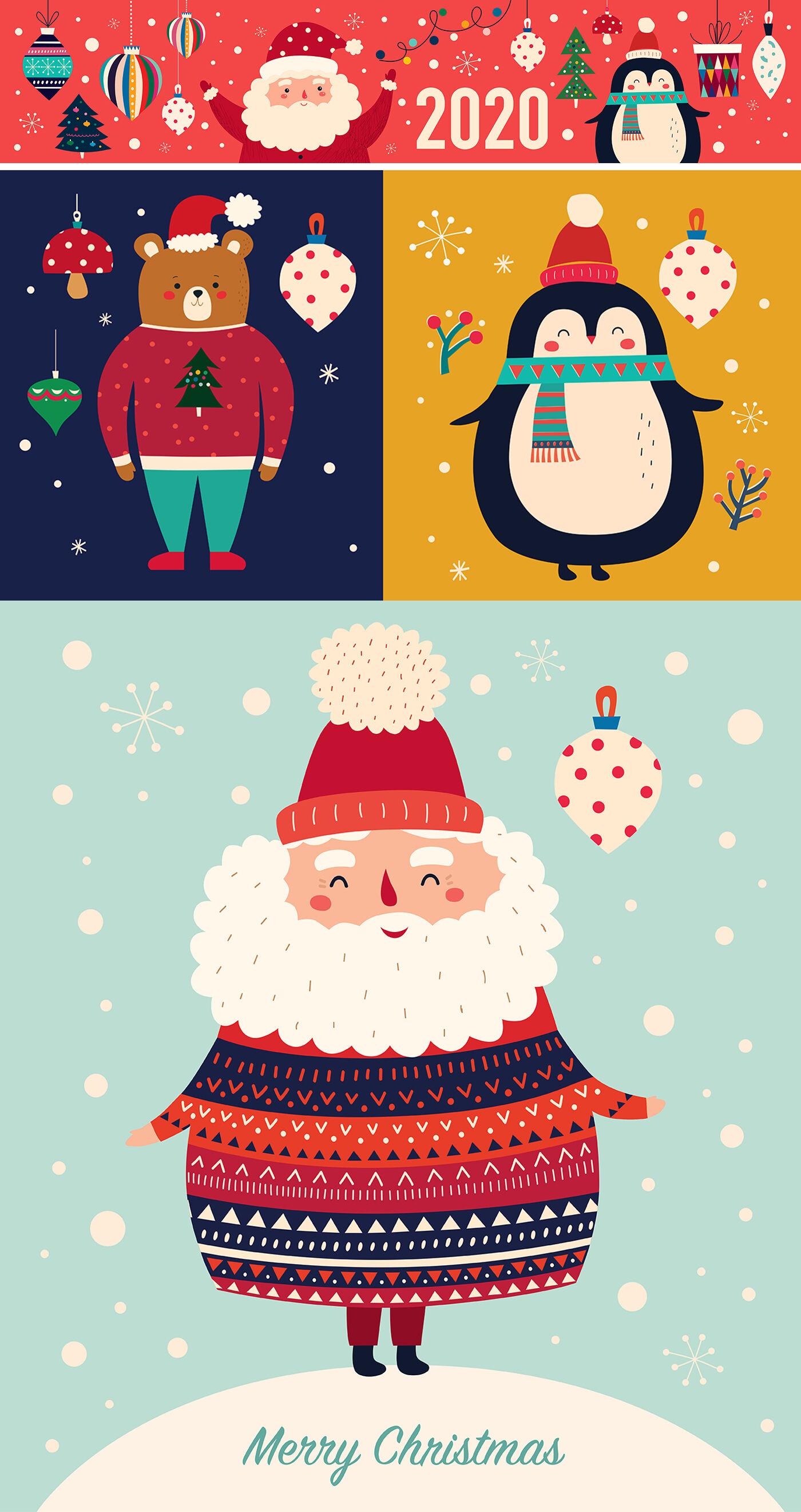 Santa Claus And Friends By Molesko Studio Thehungryjpeg Com
