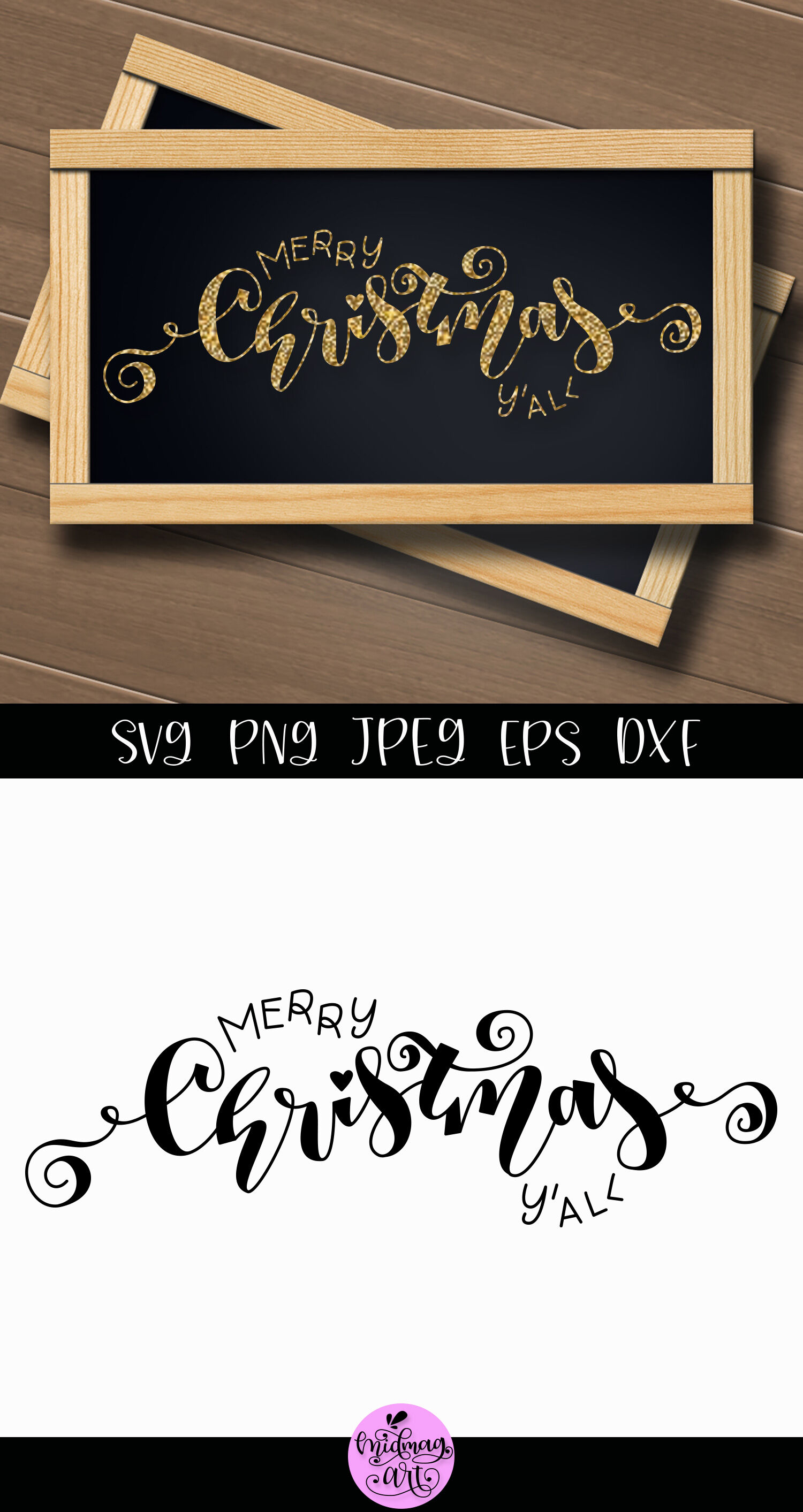 Merry Christmas Yall Sign Svg Christmas Sign Svg By Midmagart