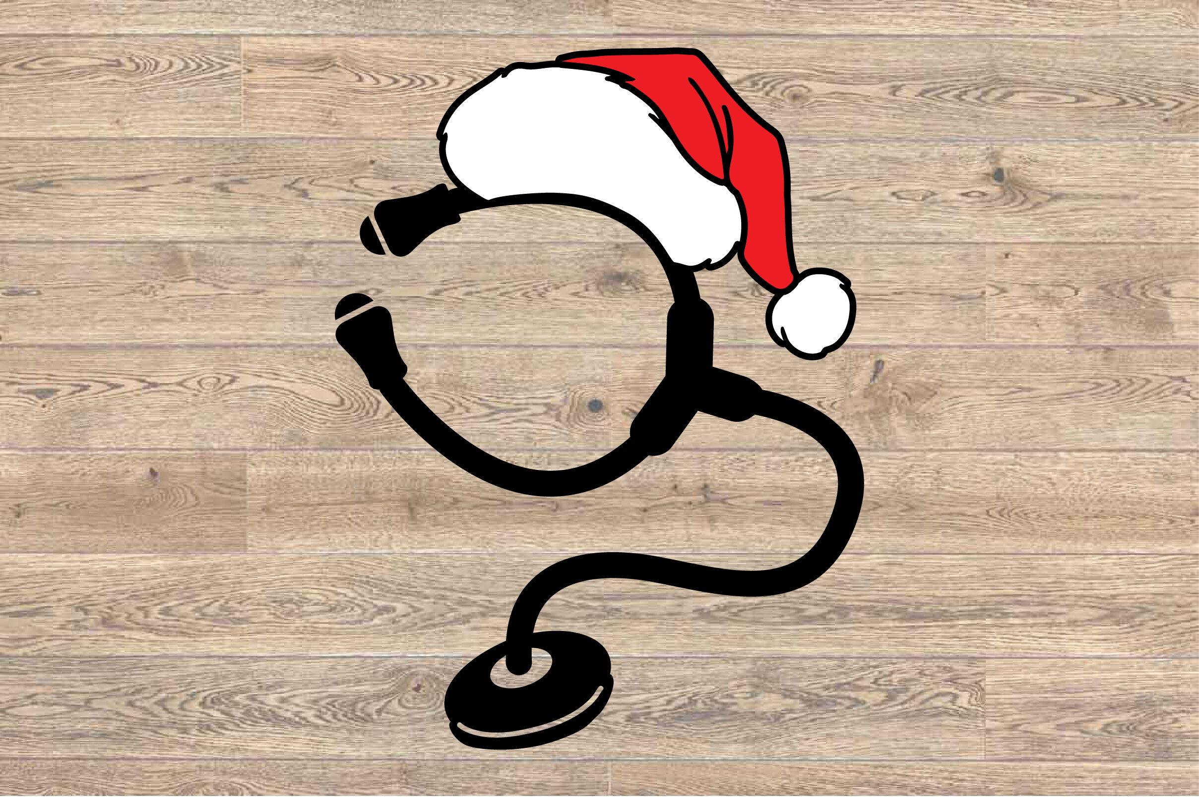 Santa Stethoscope Nurse Squad Elf Nurse Svg Hat Xmas Christmas
