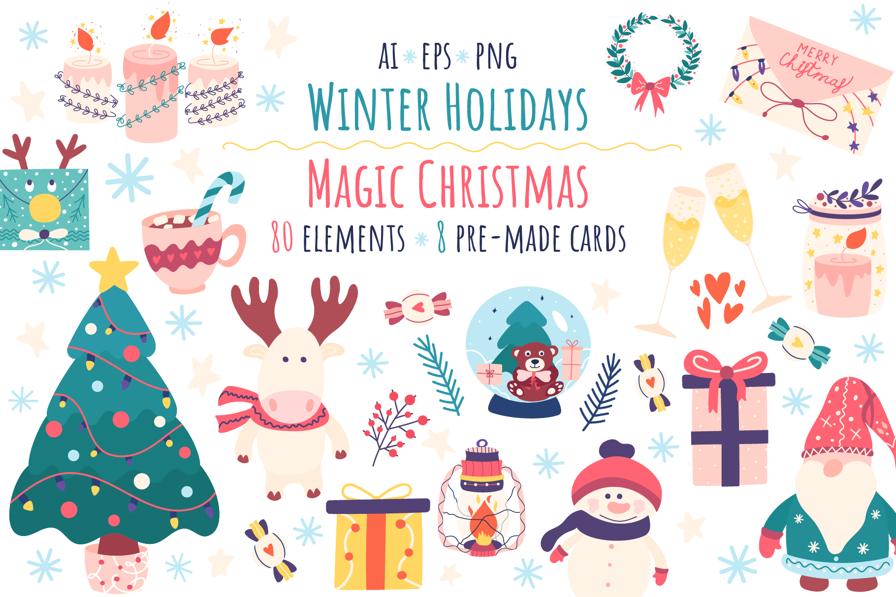 Winter Holidays Clipart And Magic Christmas By Museberry