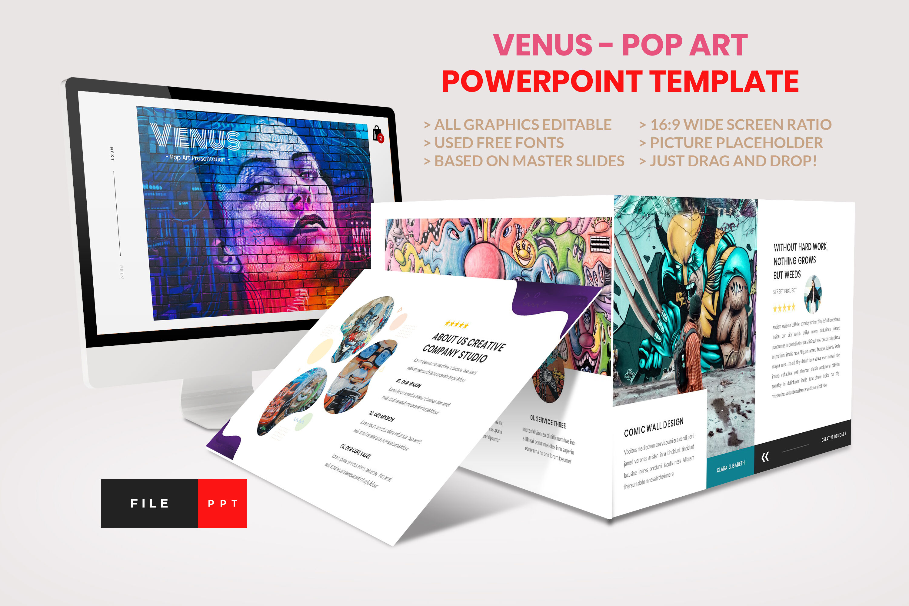 Pop Art Creative Powerpoint Template By Artstoreid