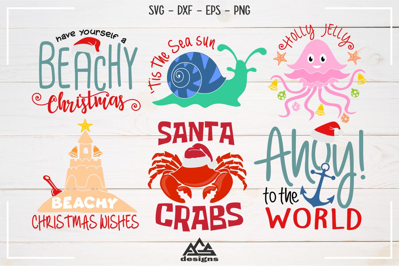 Beachy Christmas Packs Svg Design By Agsdesign Thehungryjpeg Com