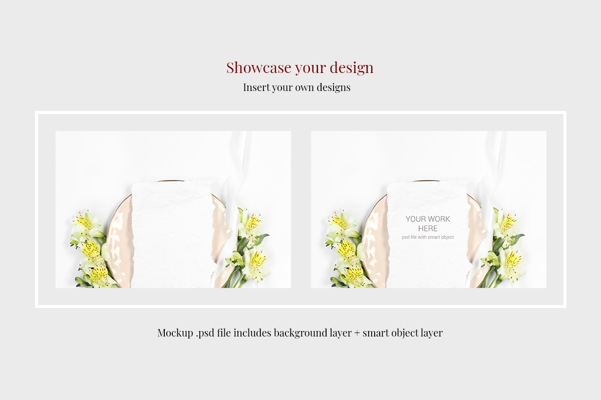 Psd Greeting Card Mockup