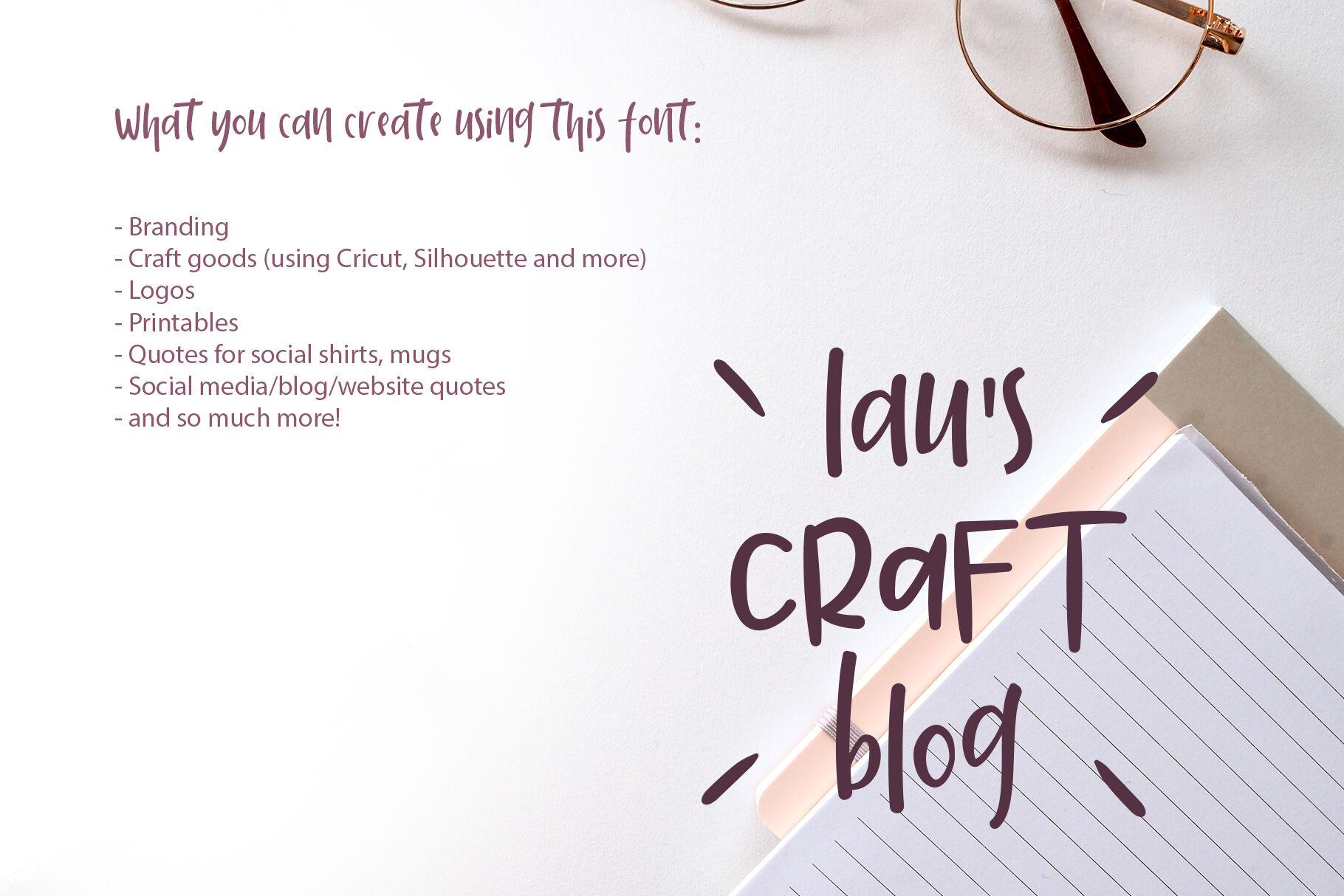 Cotton Merlot A Handwritten Crafting Font By Design 265
