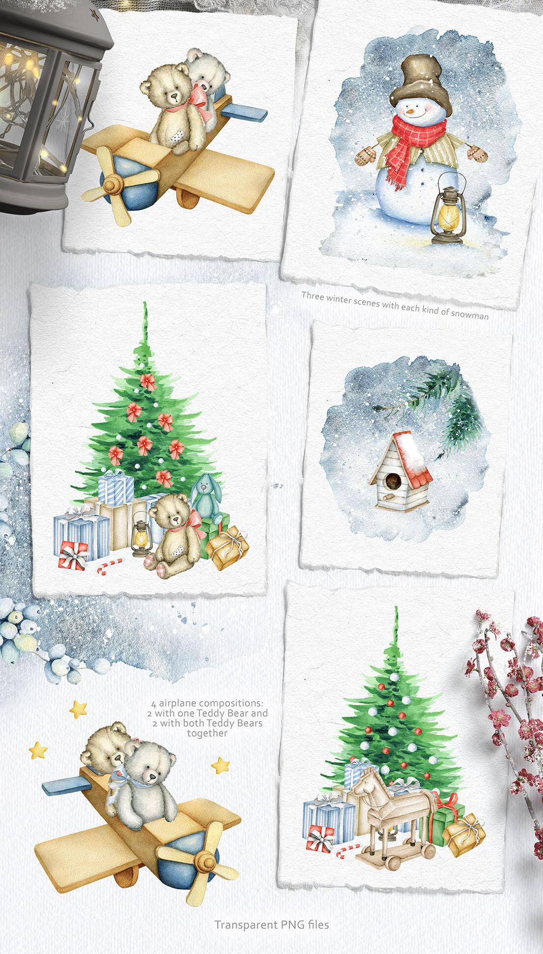 Christmas Miracle Watercolors By Eva Katerina Thehungryjpeg Com
