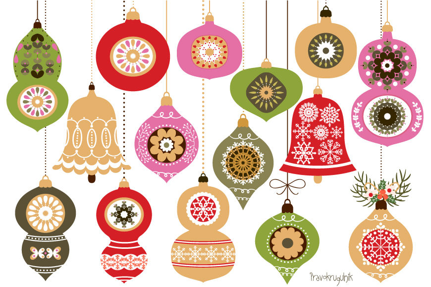 Christmas Ball Clipart.Christmas Ornaments Red And Green Christmas Ornament