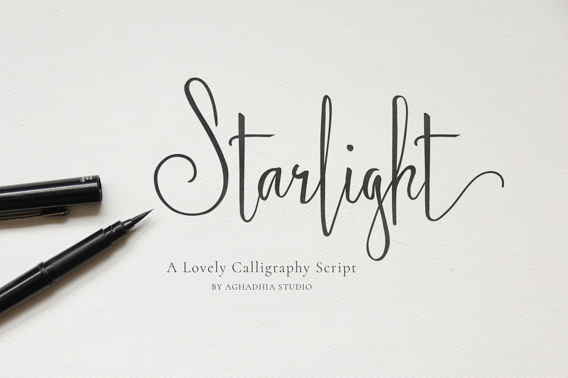 Starlight Lovely Calligraphy Font By Aghadhia Designs