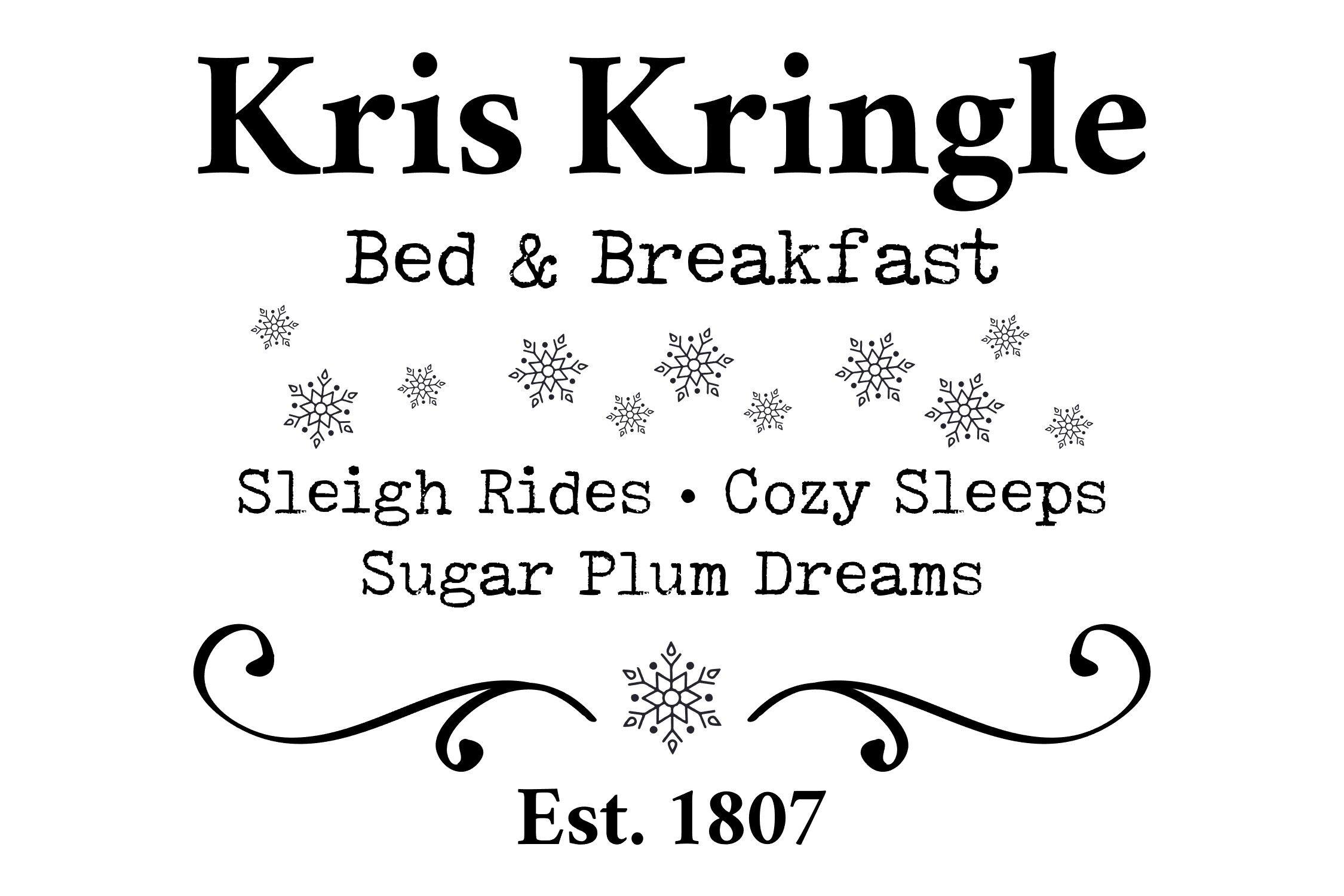 Kris Kringle Bed Breakfast Christmas Svg Png Eps By Studio