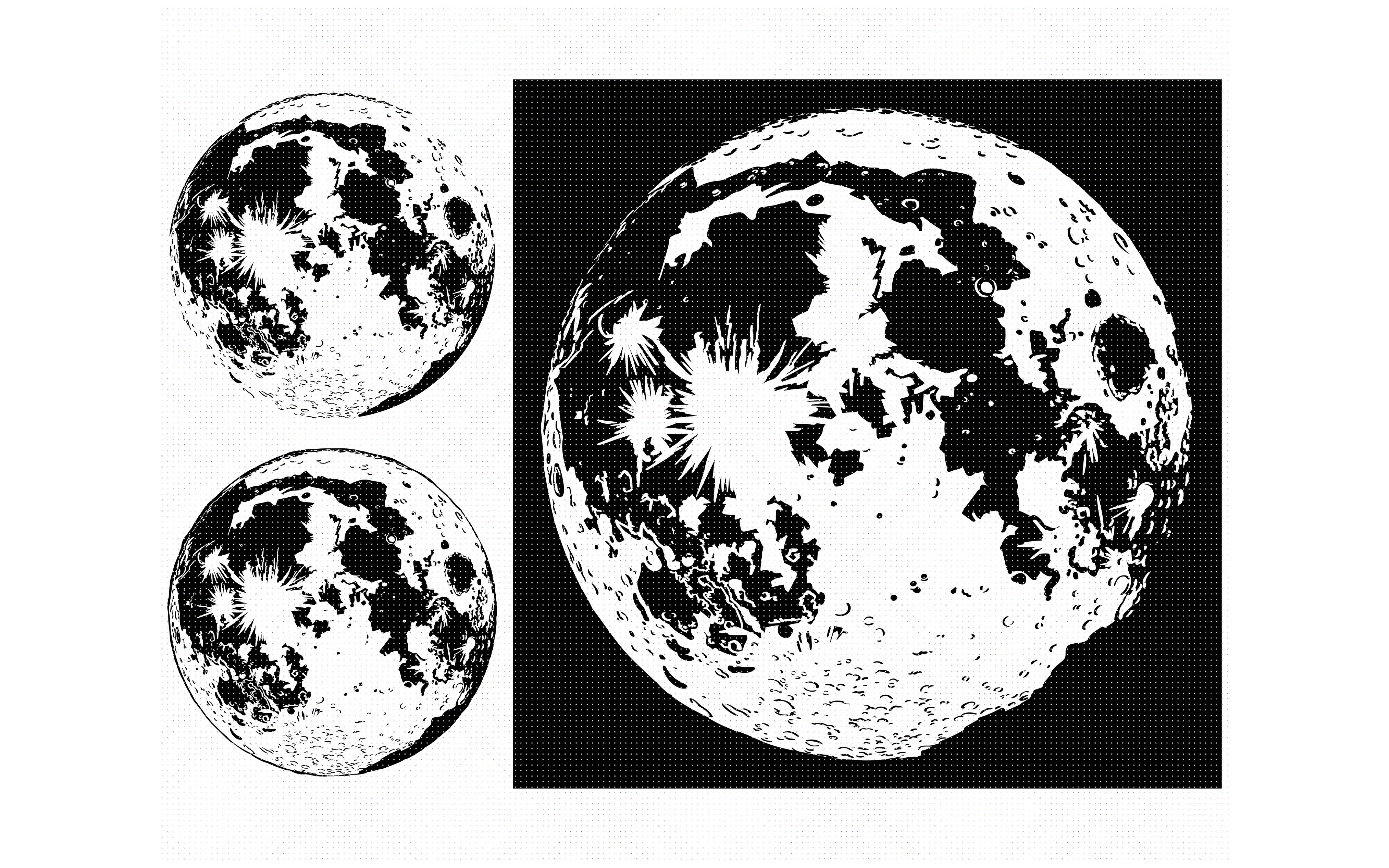 The Moon Svg Svg File Svg Cutting File Dxf Png Eps Cricut By