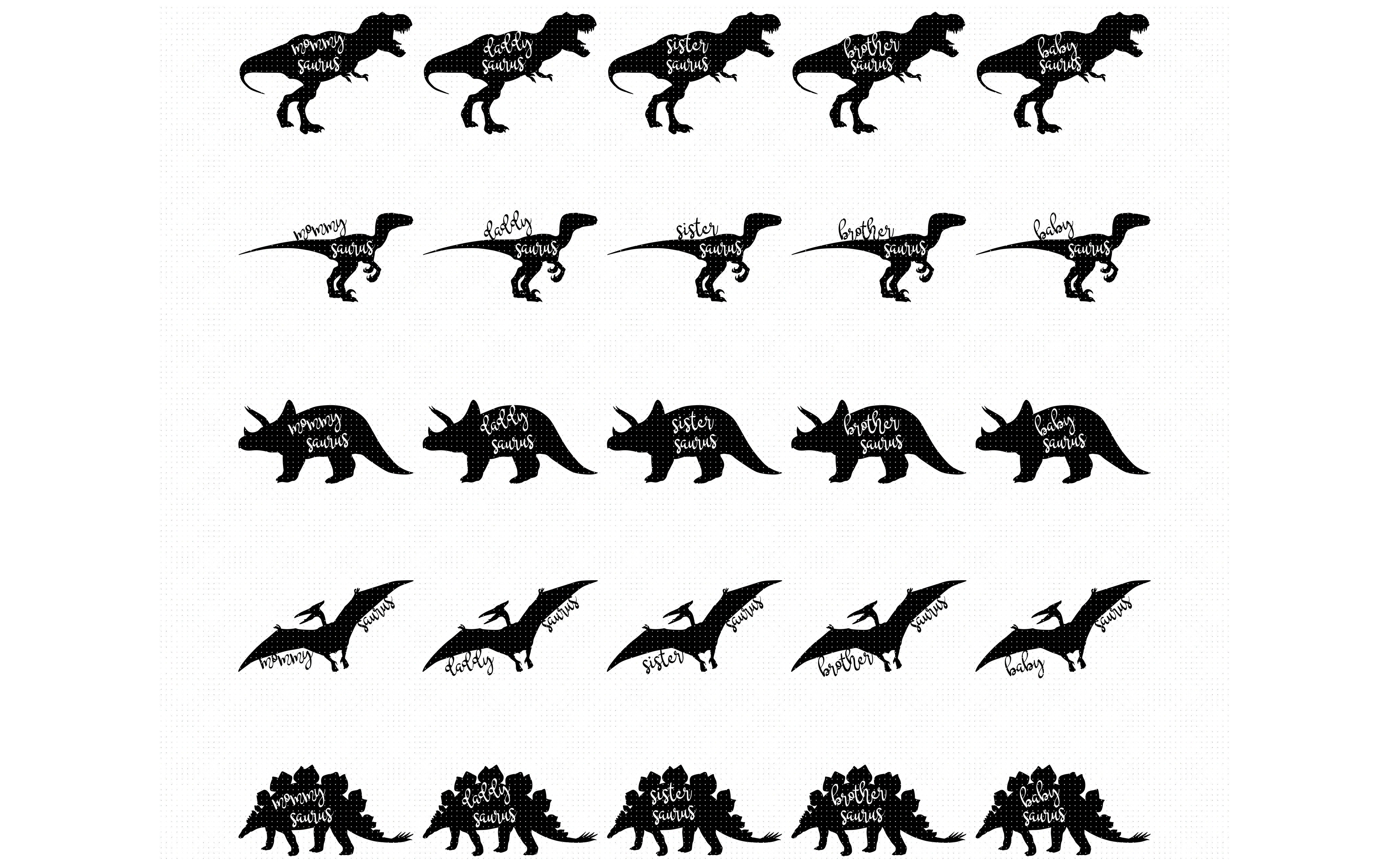 Saurus Family Dino Family Dinosaur Svg Svg File Svg Cutting