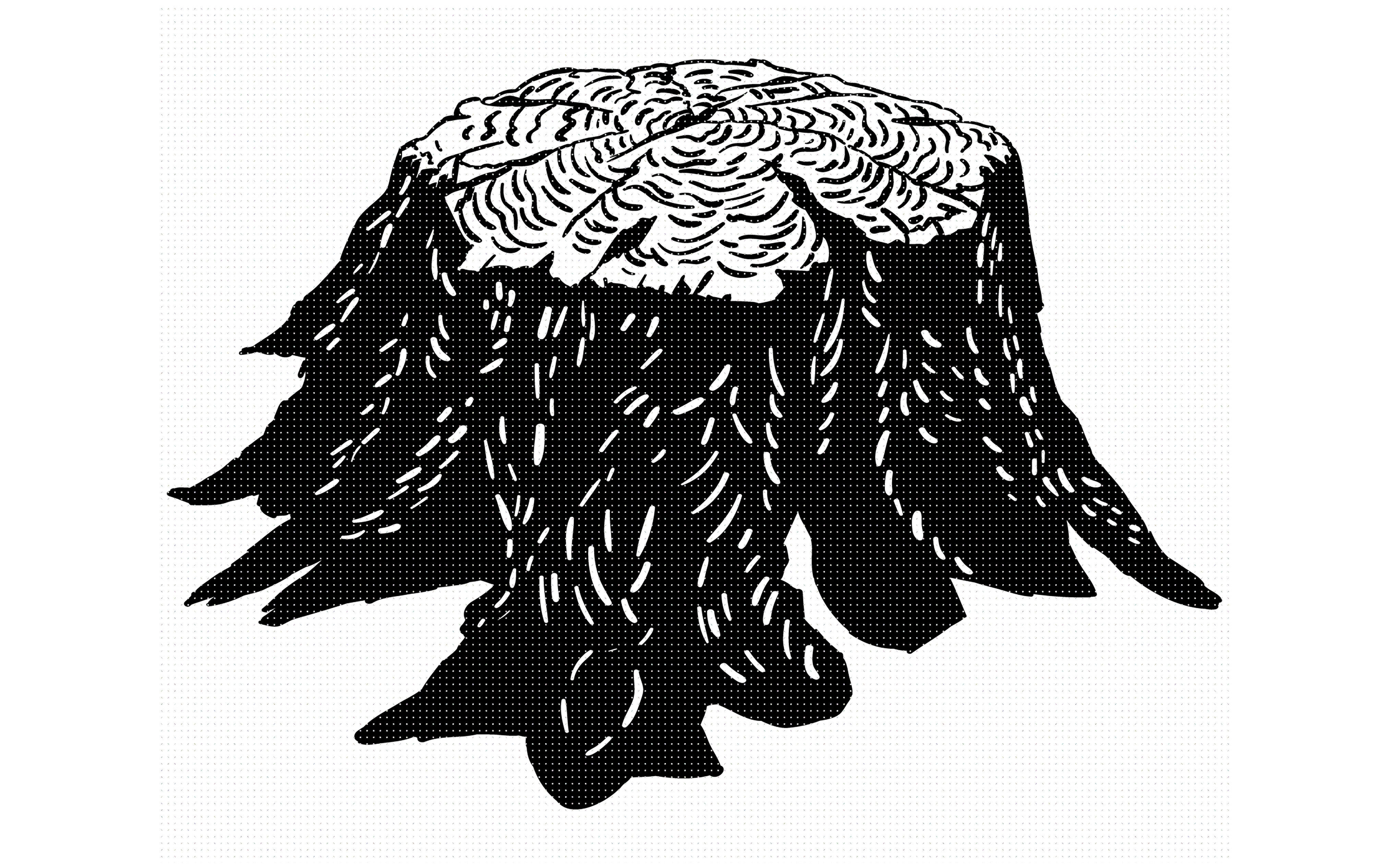 Tree Stump Chopping Wood Block Svg Dxf Png Eps Cricut By