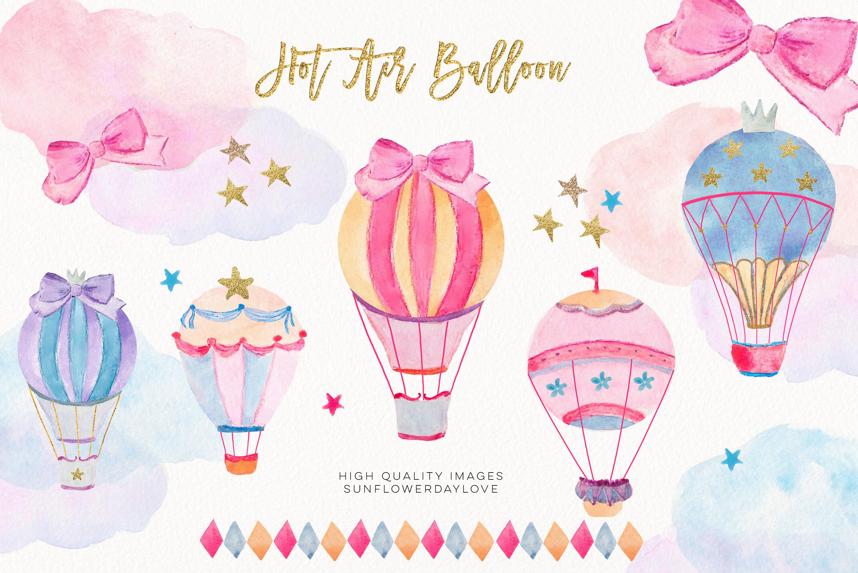 Hot Air Balloon Clipart (Grafik) von AMBillustrations · Creative Fabrica