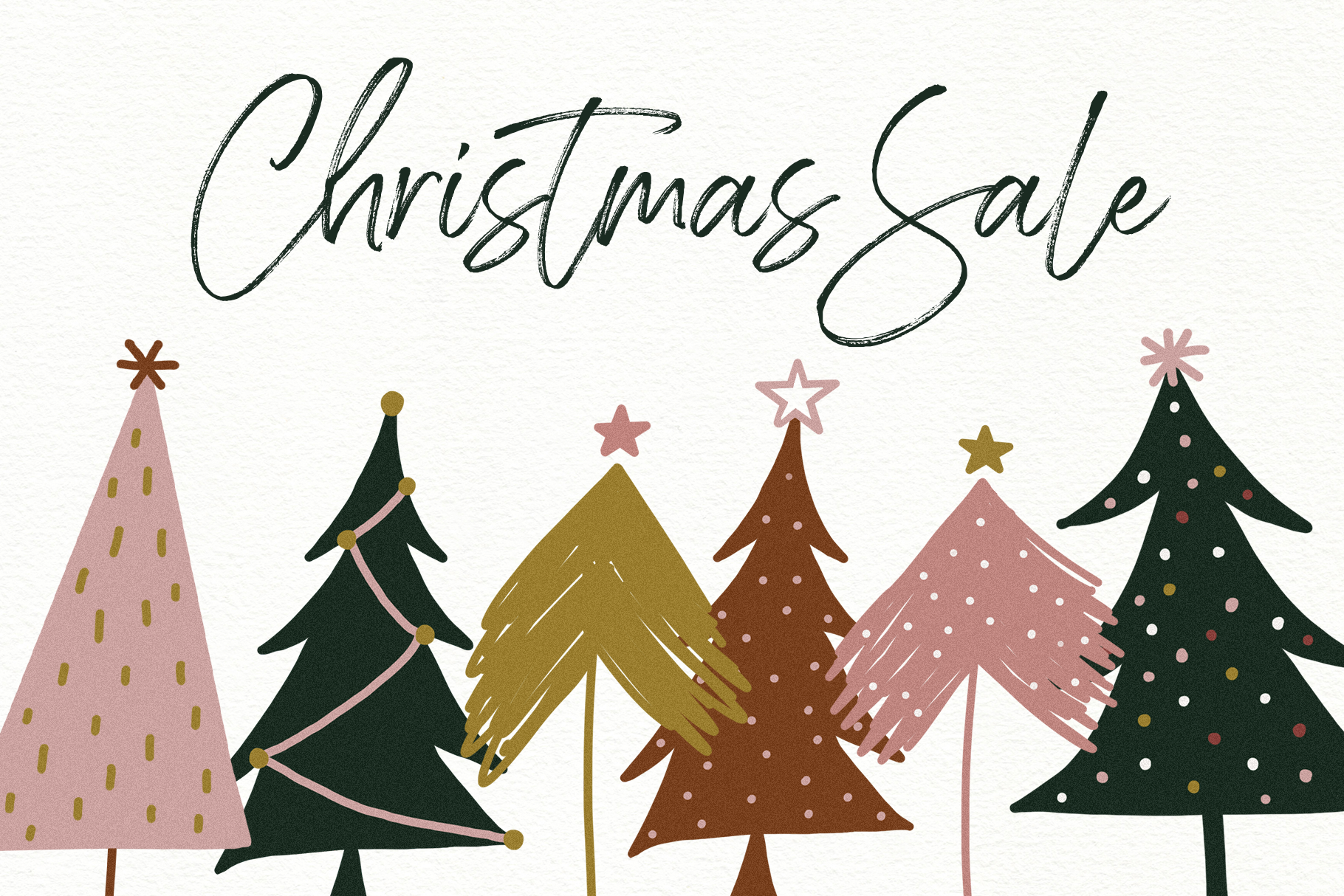 Modern Messy Christmas Tree Illustrations Clip Art By Ka