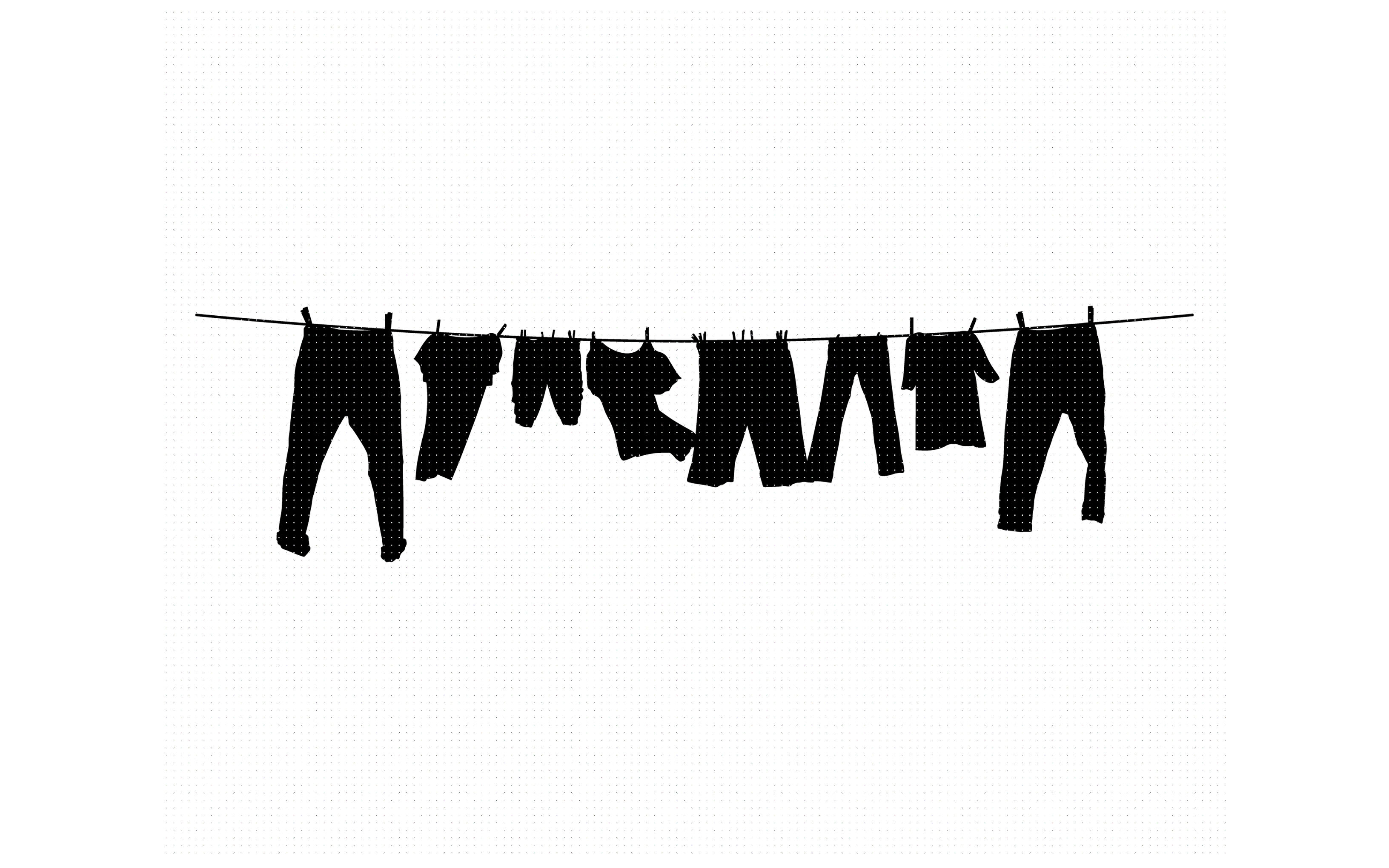 Clothesline Drying Clothes Laundry Svg Dxf Png Eps Cricut By