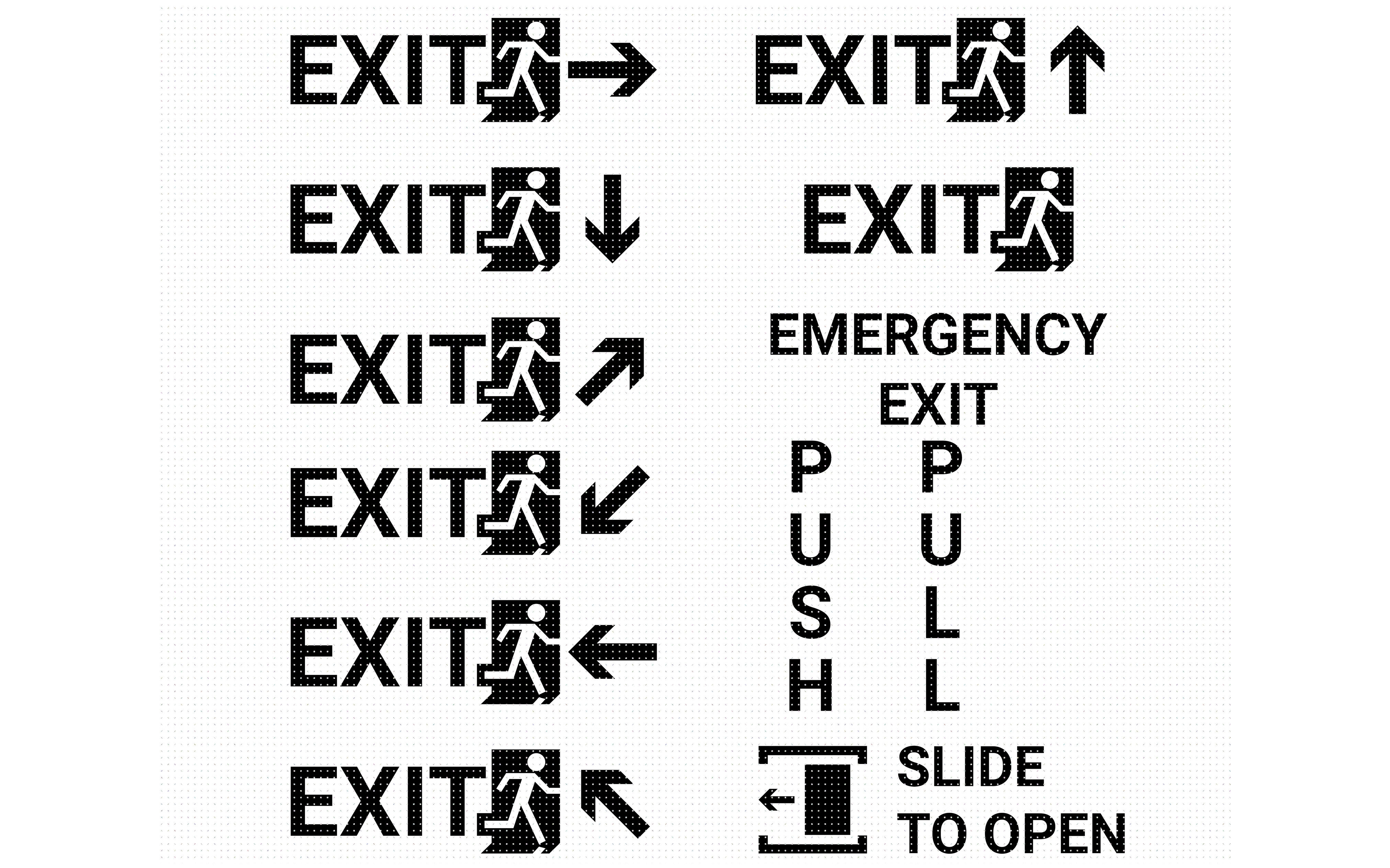 Exit Sign Emergency Poster Svg Dxf Png Eps Cricut Silhouette By Crafteroks Thehungryjpeg Com