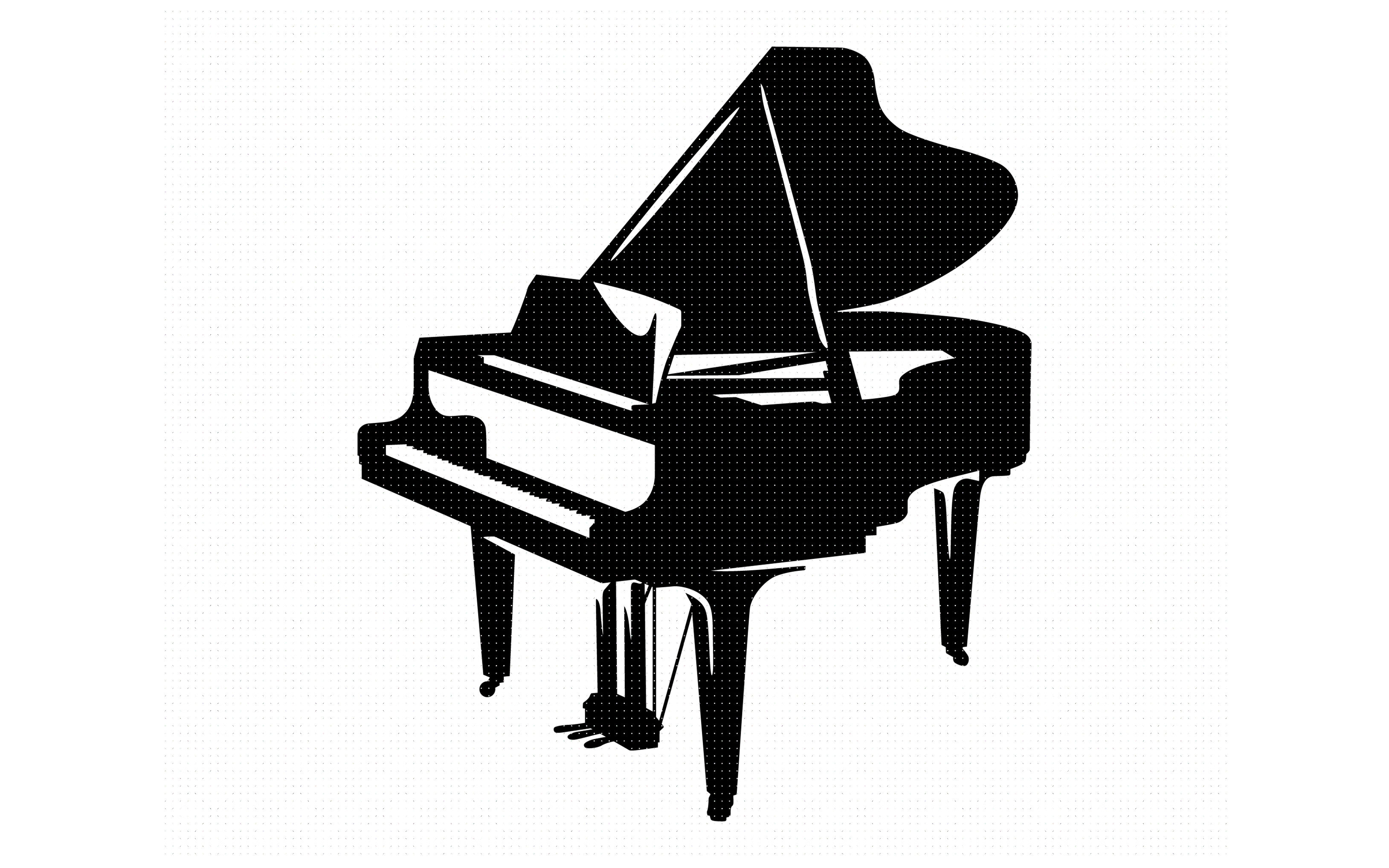 Grand Piano Svg Dxf Png Eps Cricut Silhouette Cut File Clipart By Crafteroks Thehungryjpeg Com