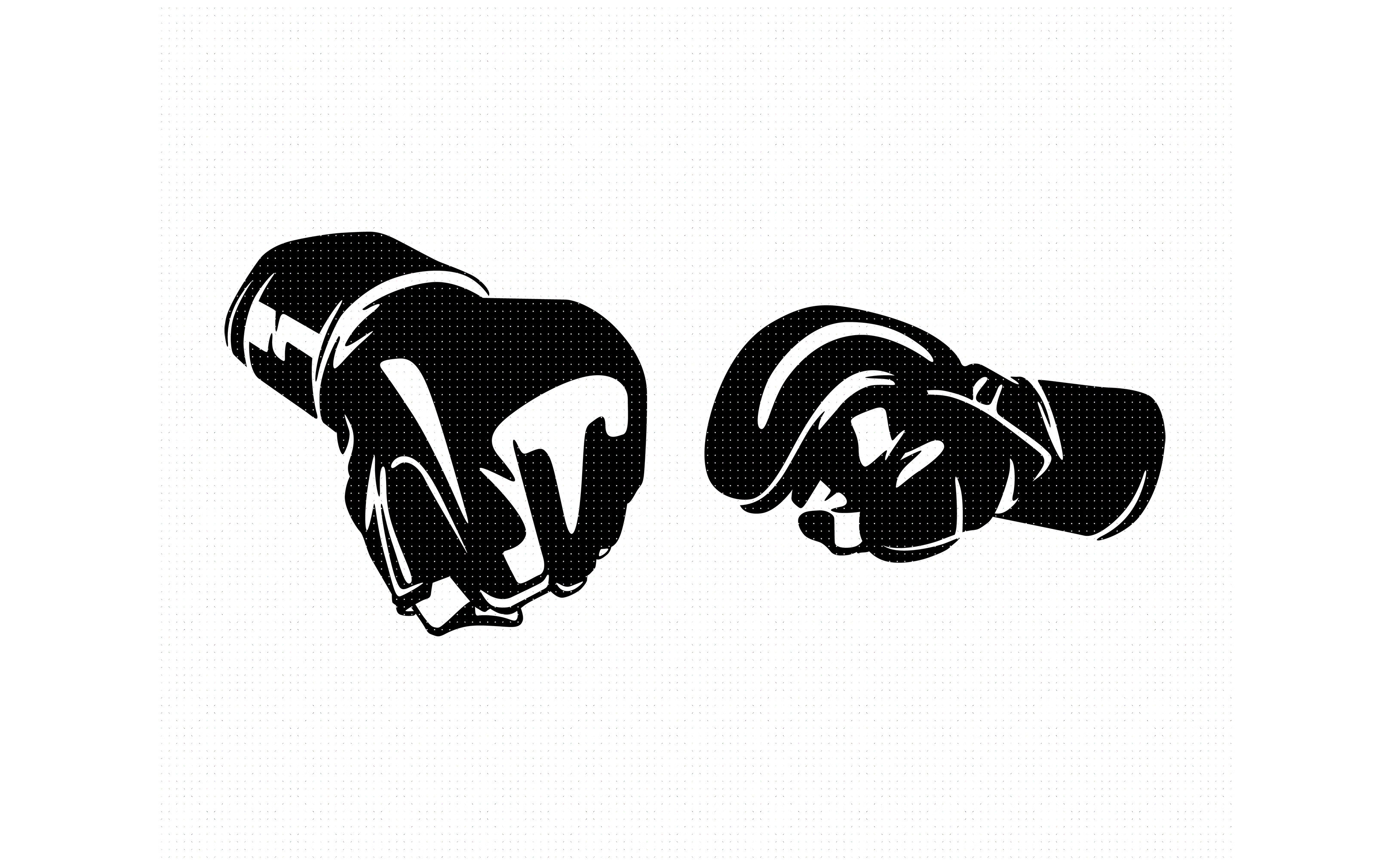 Mma Gloves Svg Dxf Png Eps Cricut Silhouette Cut File