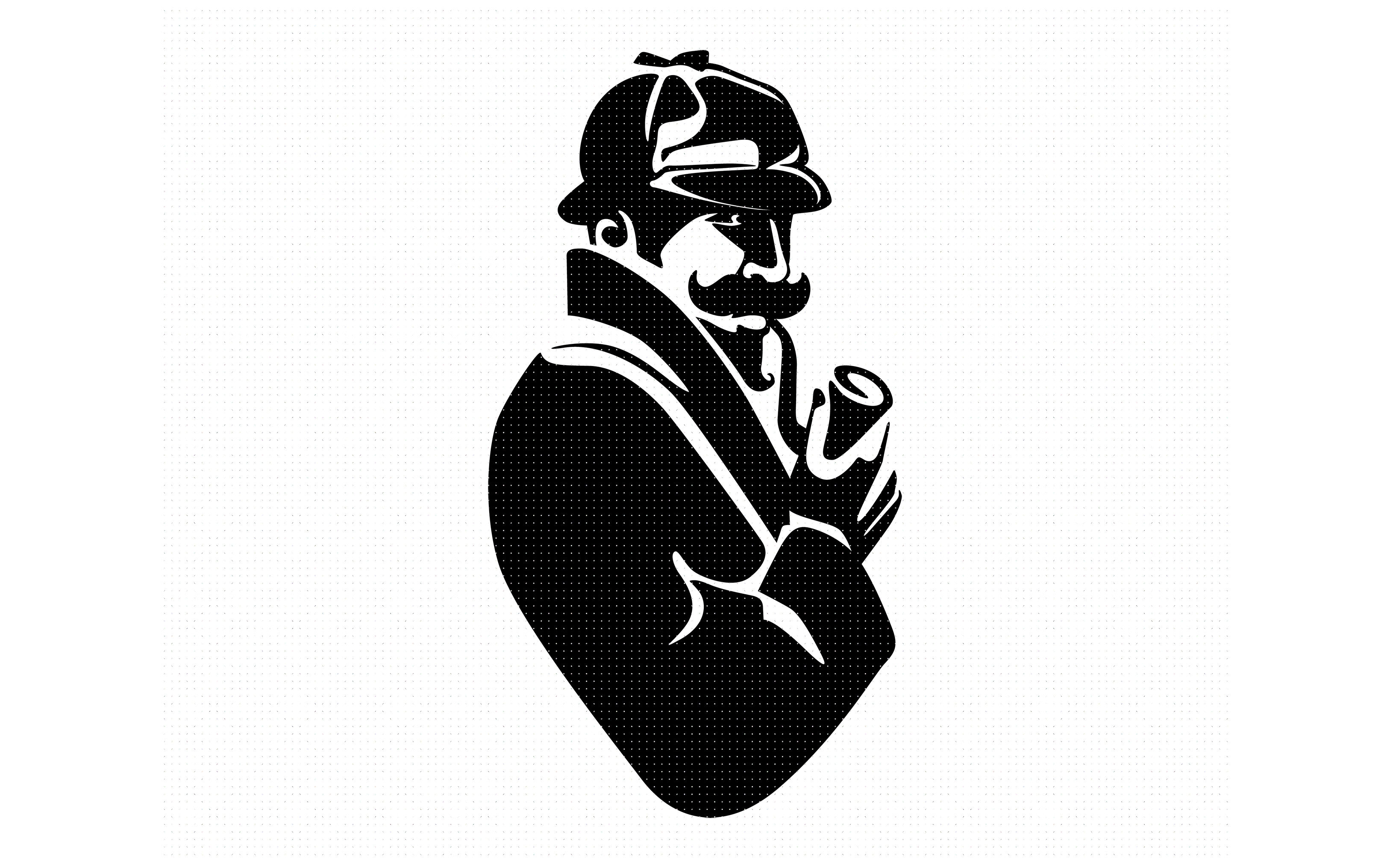 Detective Investigator Hat Pipe Svg Dxf Png Eps Cricut By