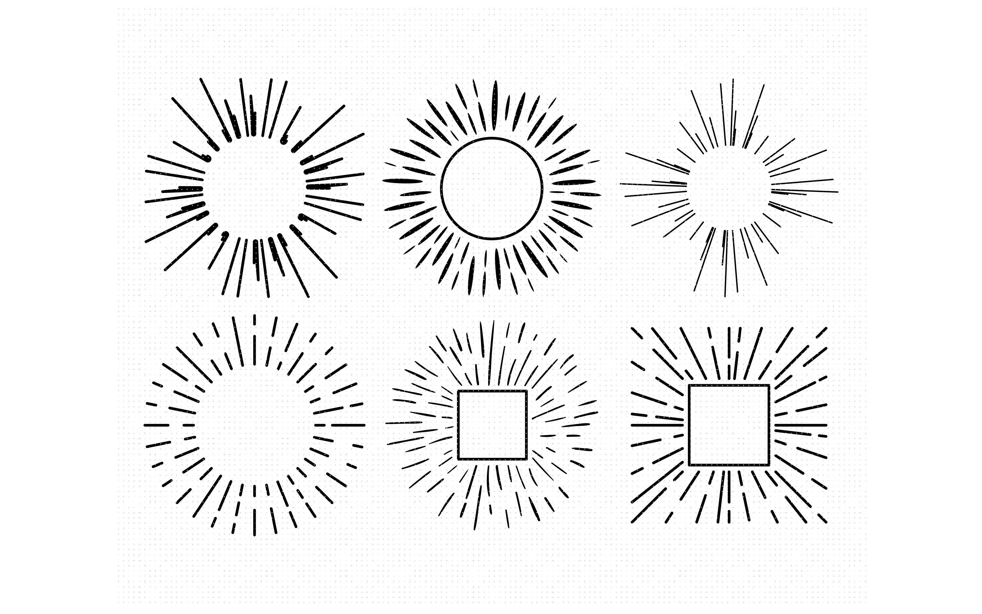 Sun Rays Sunburst Beam Burst Svg Dxf Png Eps Cricut