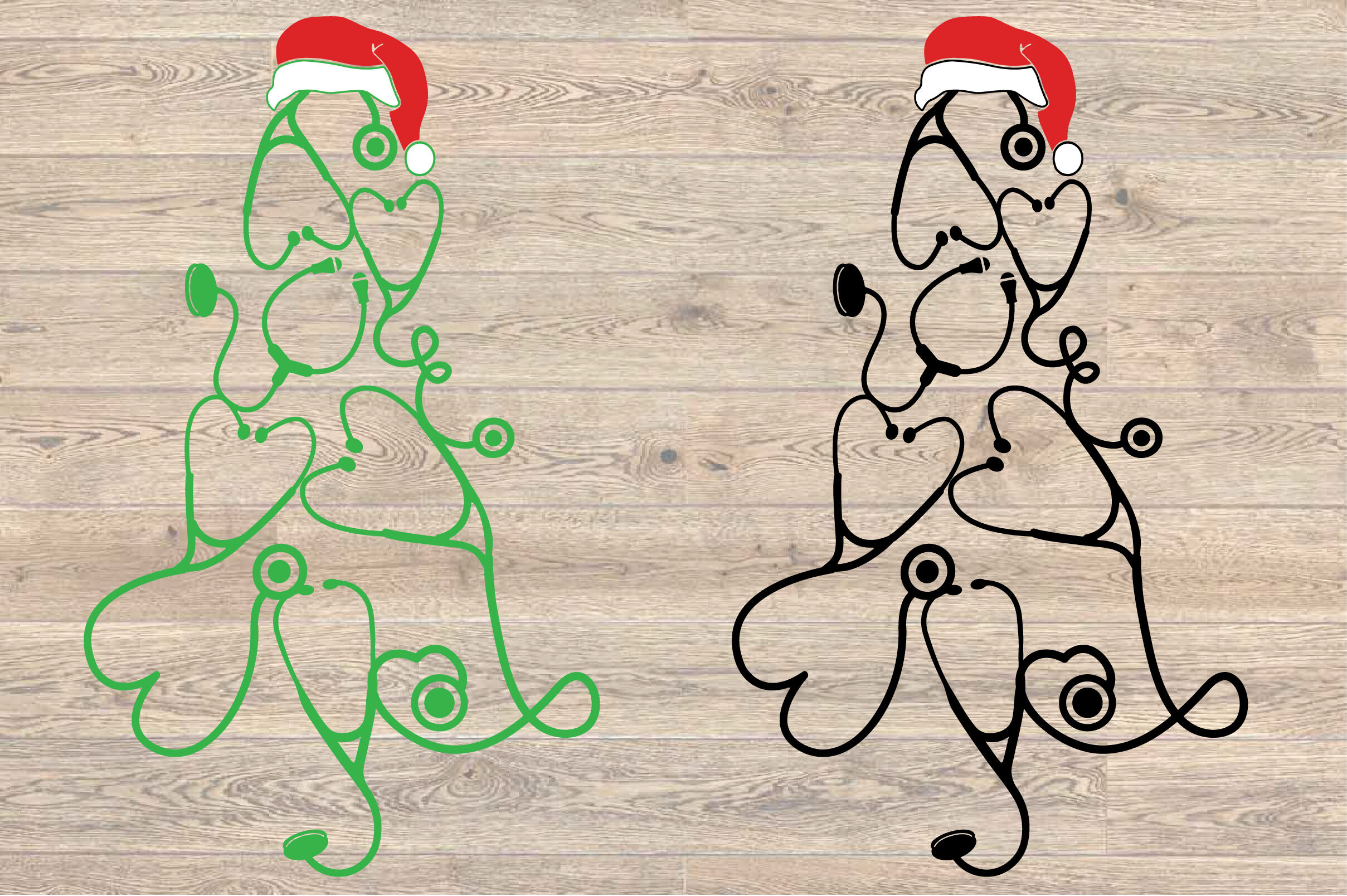 Stethoscope Christmas Tree Svg Nurse Squad Elf Xmas Christmas