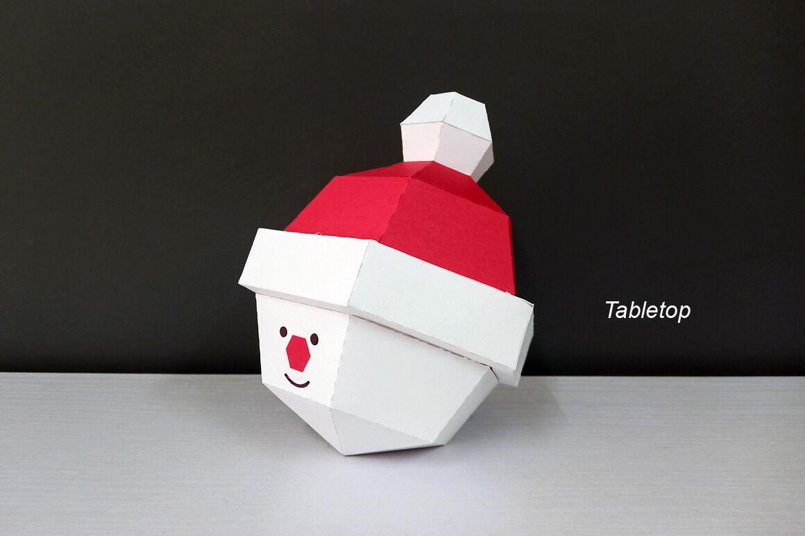 Diy Christmas Bauble Santa Claus 3d Papercraft By Paper Amaze Thehungryjpeg Com