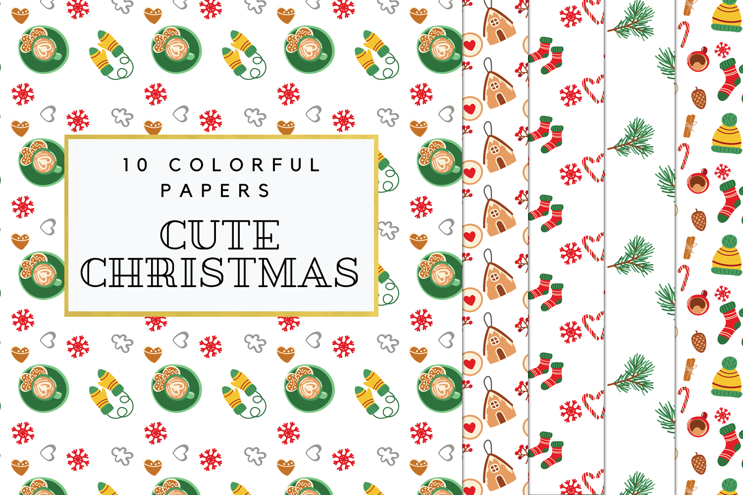 Cozy Winter Digital Paper Christmas Winter Background Cute