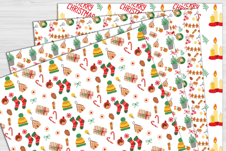 Cozy Winter Digital Paper Christmas Winter Background Cute