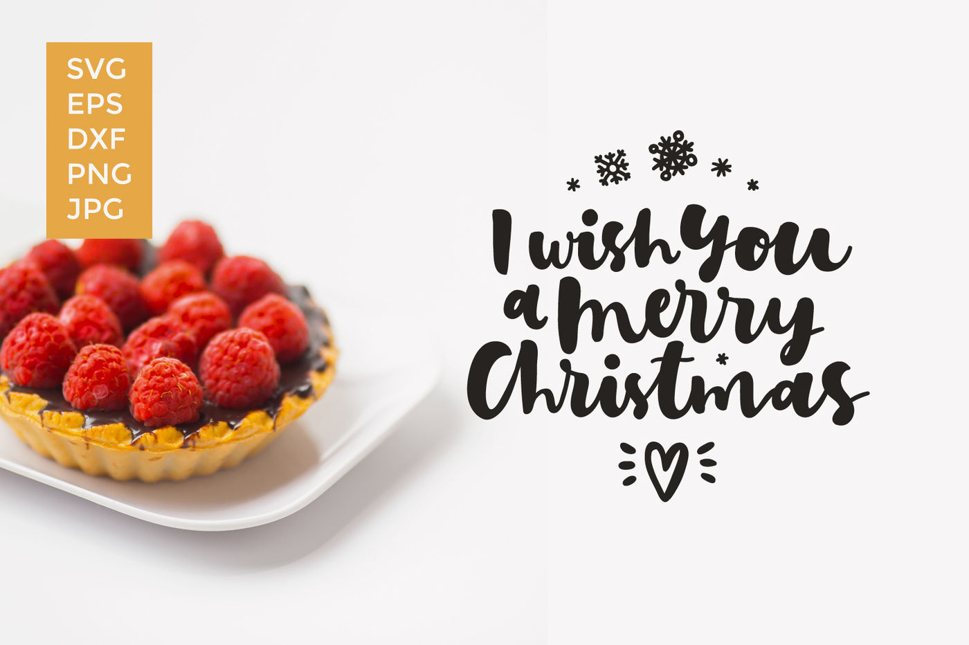 Wish you a Merry Christmas vector cut files By Zira Zulu
