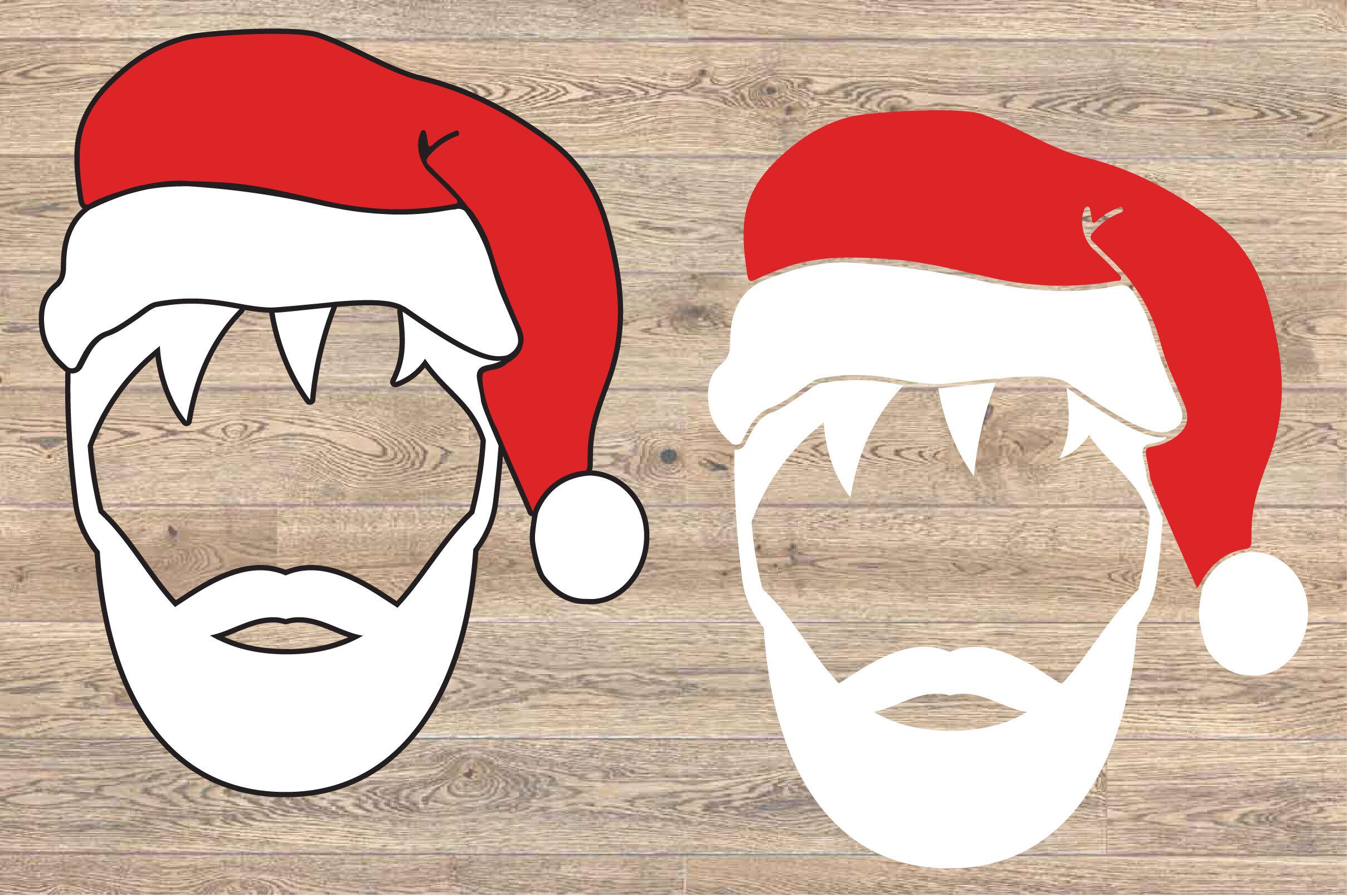 Santa Face Santa Claus Beard Svg Christmas Santa Claus Svg 1620s