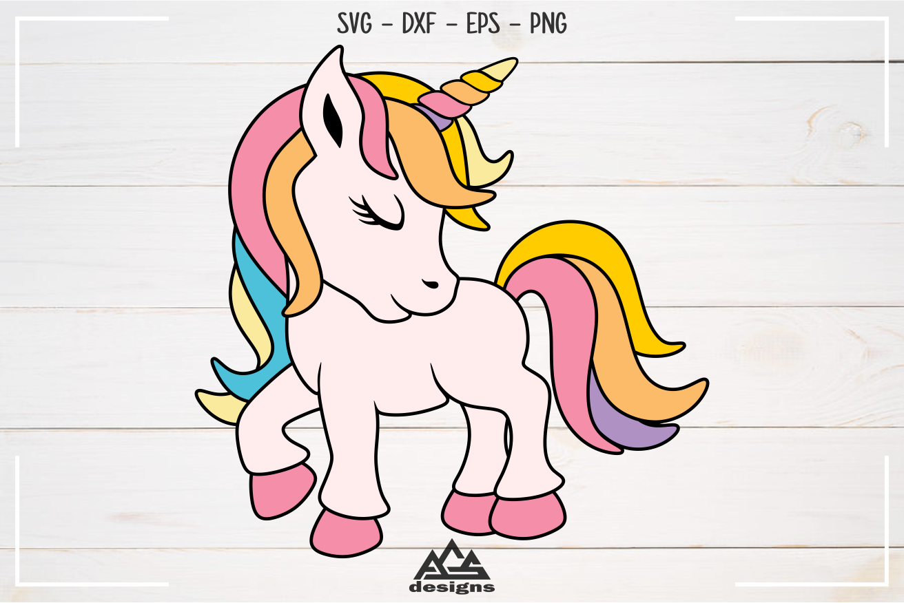 Cute Unicorn Svg Design By Agsdesign Thehungryjpeg Com