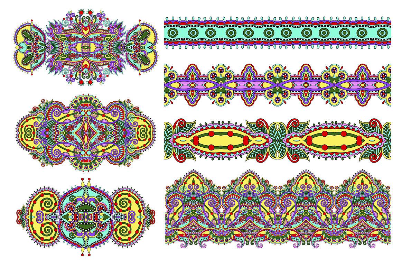 Paisley Fabric Set By Karakotsya Thehungryjpeg Com