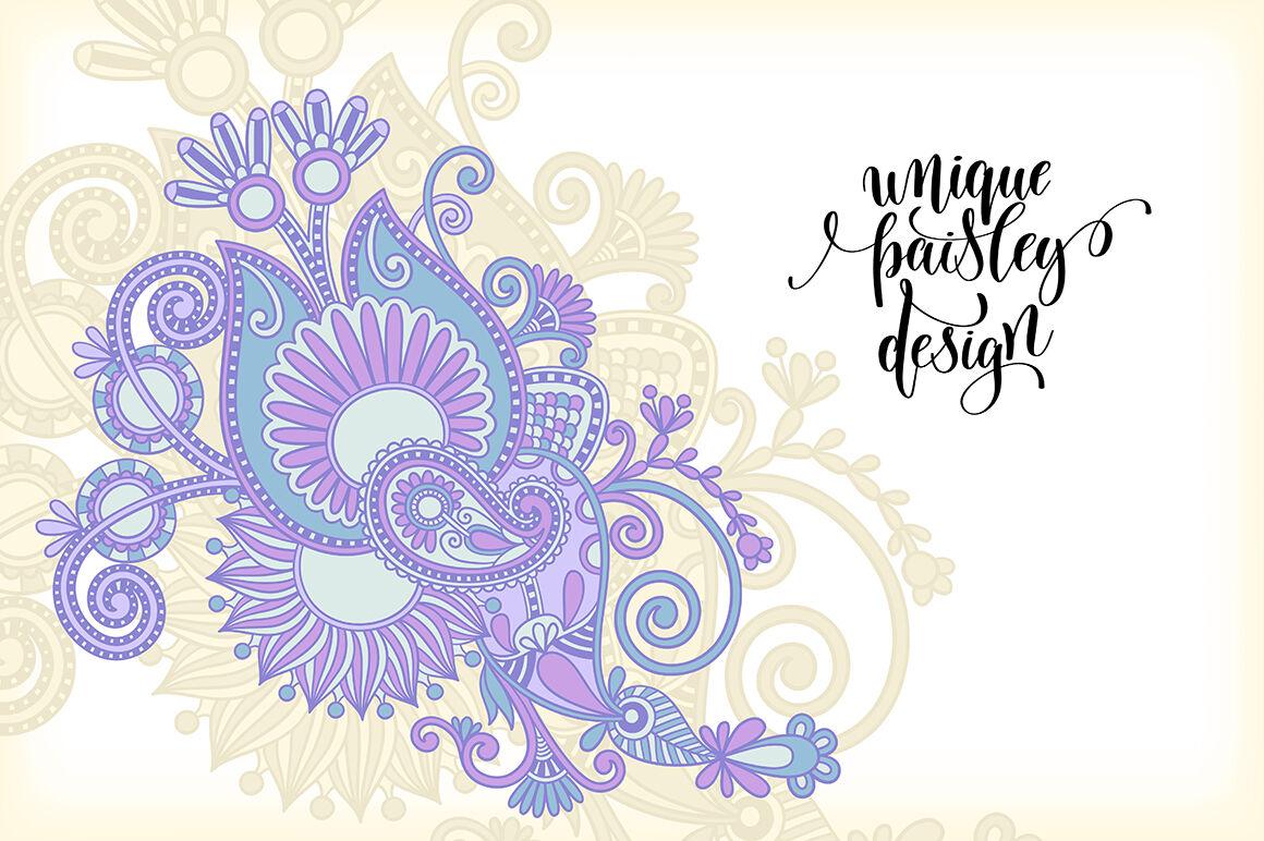 10 Paisley Design By Karakotsya Thehungryjpeg Com