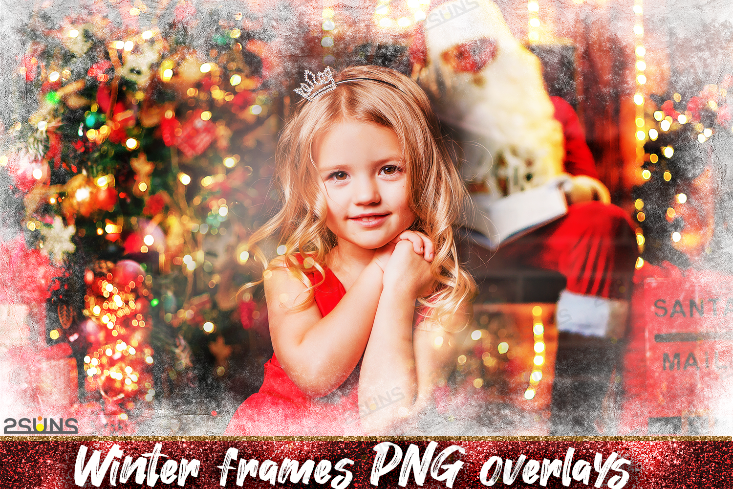 Photo Overlays Christmas Winter Frames By 2suns Thehungryjpeg Com