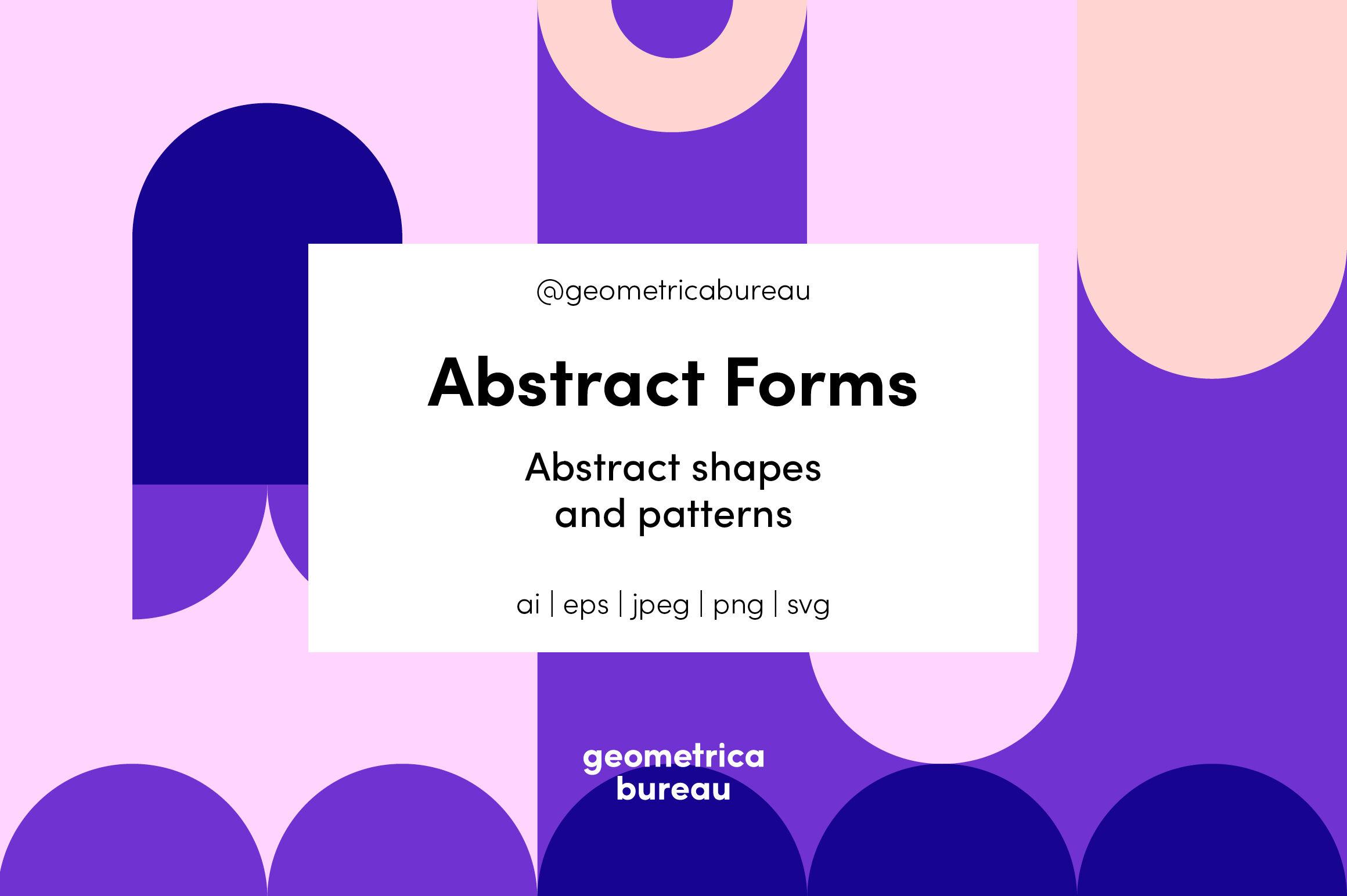 Abstract Forms By Geometrica Bureau Thehungryjpeg Com