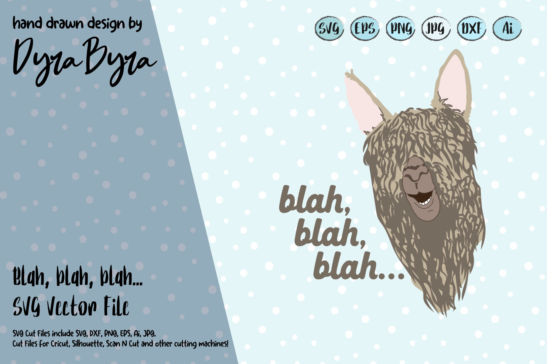 Llama Svg Cute Llama Vector File Kids Fun Svg By Dyrabyra