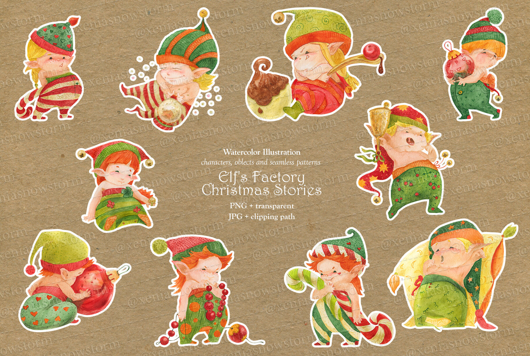 Elf S Factory Christmas Stories By Snowstorm S Box Thehungryjpeg Com