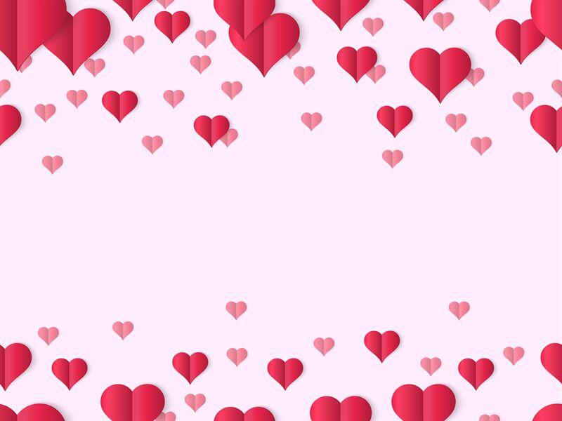 Valentines Heart Design Banner Decorative Valentines Day Love