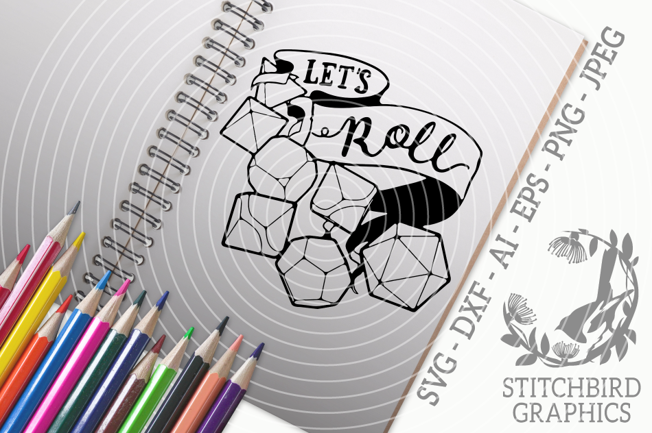 Let S Roll Svg Dxf Role Playing Instant Download Stitchbird