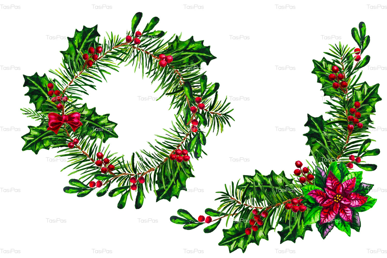 Christmas Watercolor Bundle By Tasipas Thehungryjpeg Com
