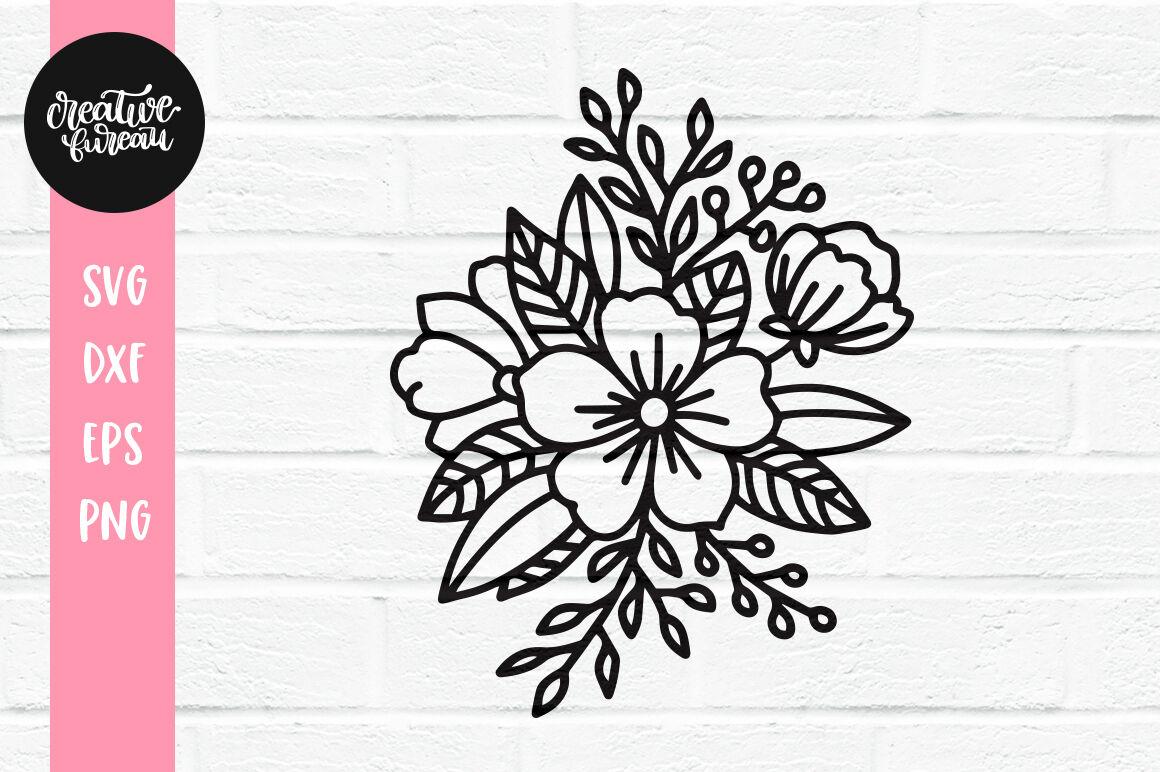 Florals Svg Dxf Cut File Flowers Svg Floral Arrangement Svg By