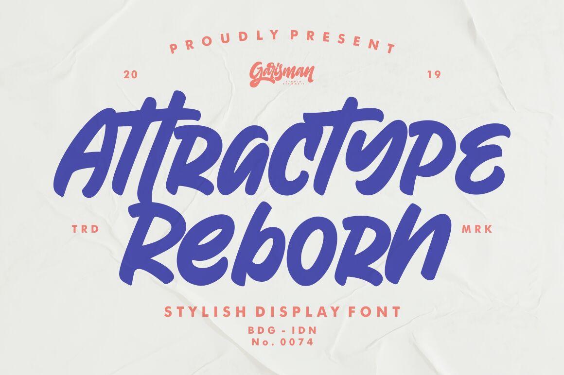 Attractype Reborn By Garisman Studio Thehungryjpeg Com