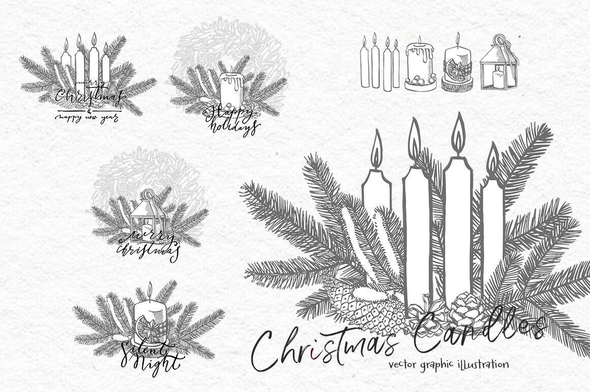 Xmas Set Graphic Illustrations By Astro Ann Thehungryjpeg Com