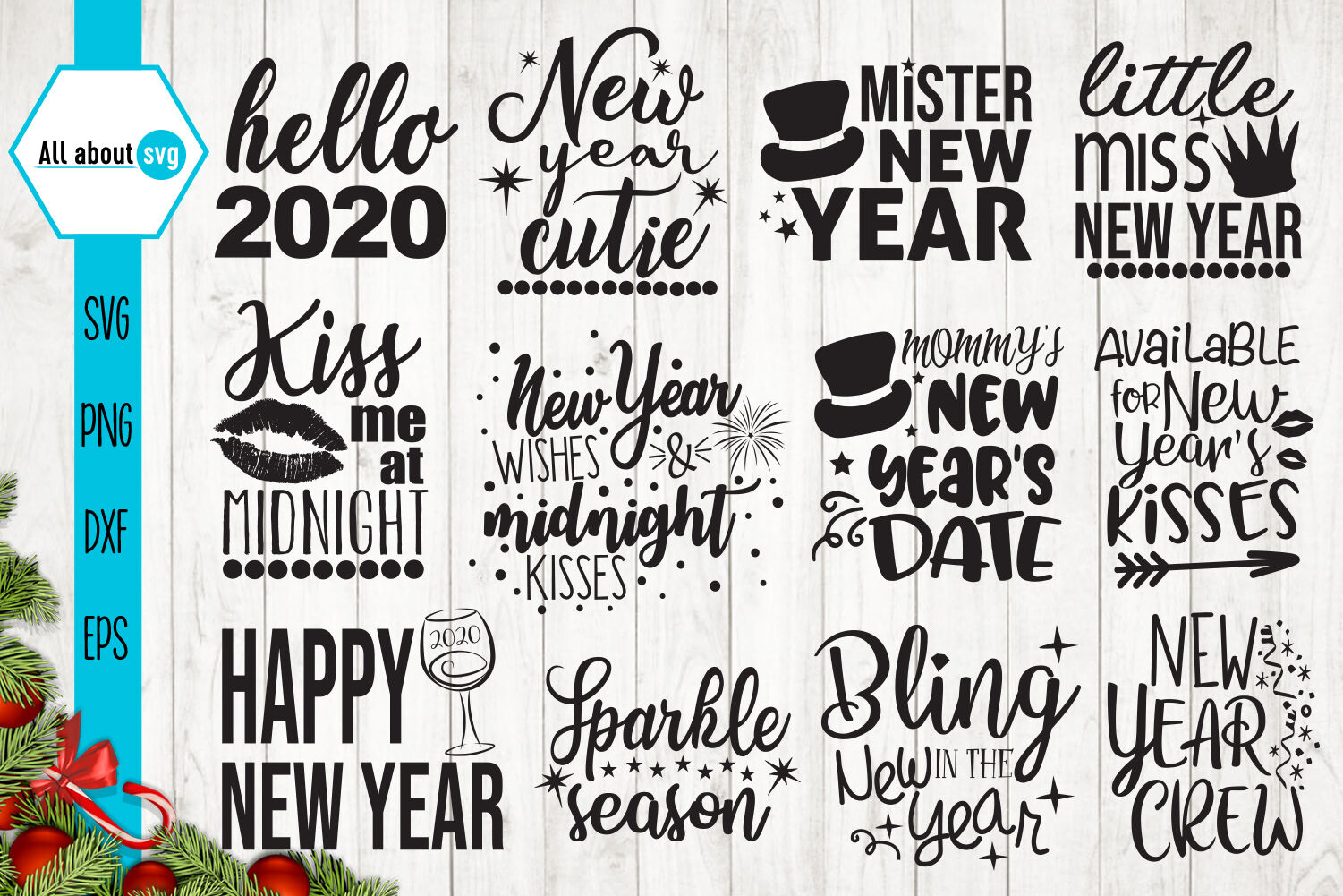 New Year Quotes Svg Bundle By All About Svg Thehungryjpeg Com